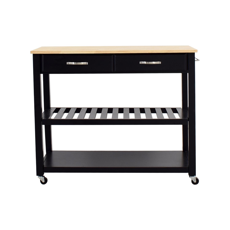 60% OFF - Crosley Furniture Crosley Kitchen Cart Cabinet ...
