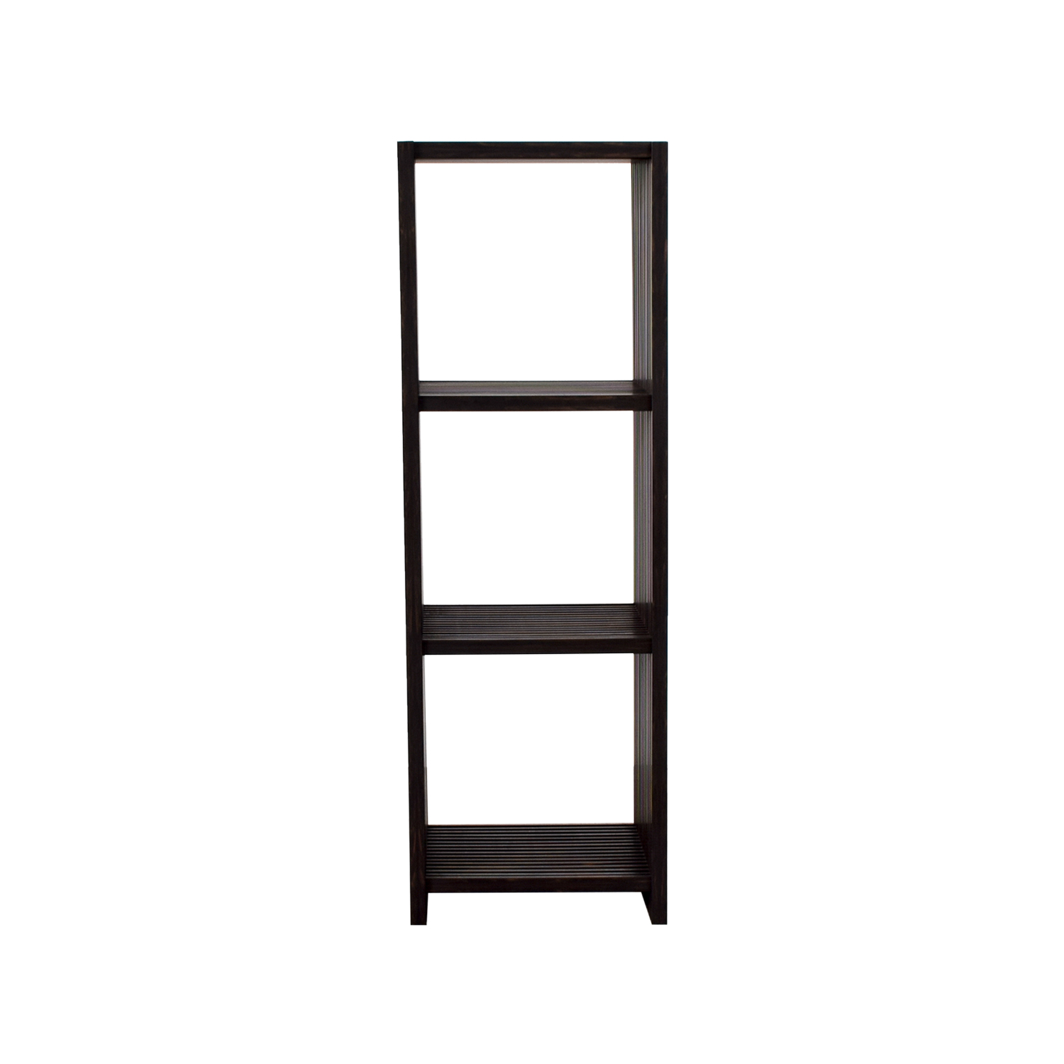 buy Seville Classics 4-Tier Folding Bookcase Shelf Seville Classics Storage