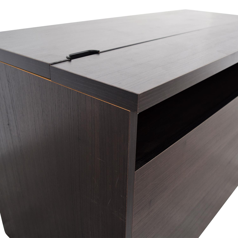 90 Off Ikea Ikea Black Office Desk Tables