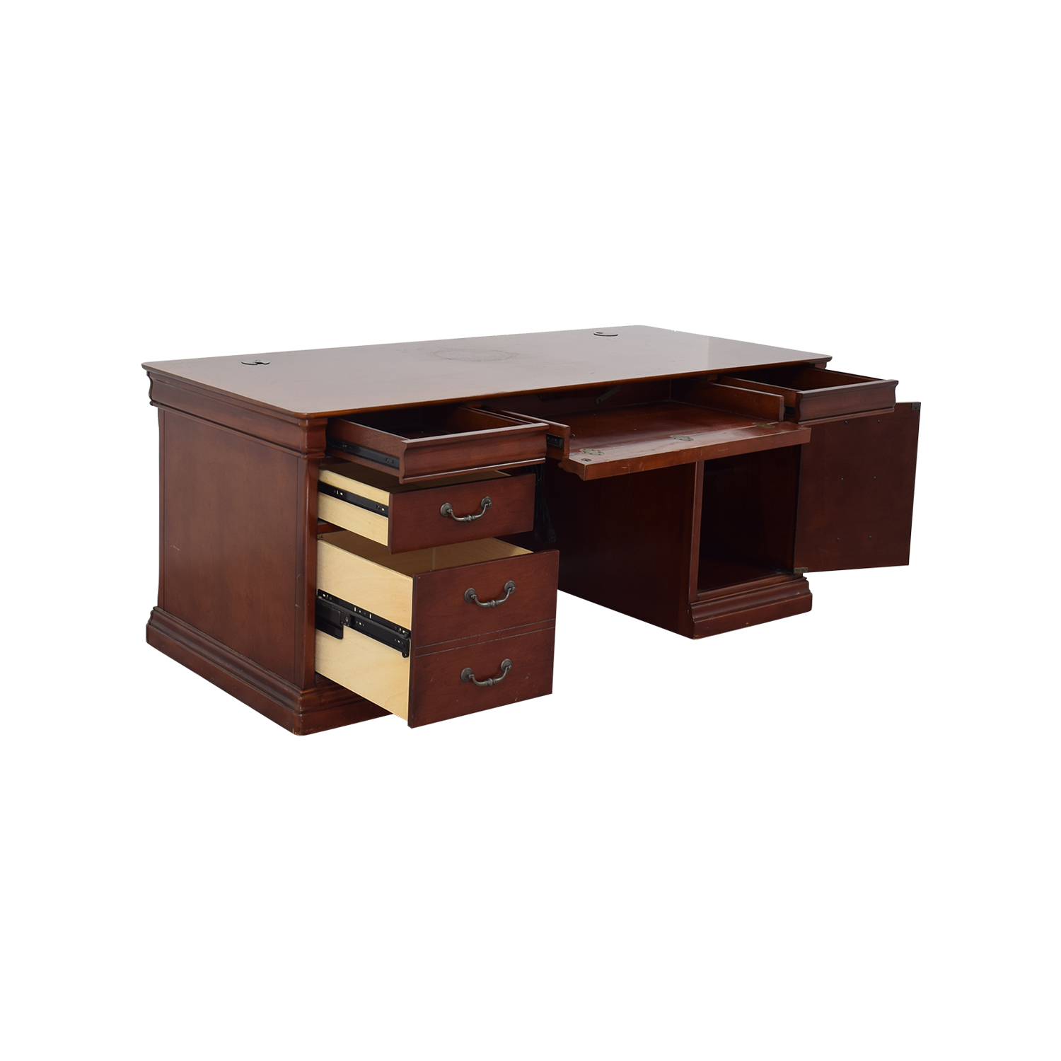 ... Home Office Desks; Buy Havertys Executive Desk With Leather Chair  Havertys Tables ...
