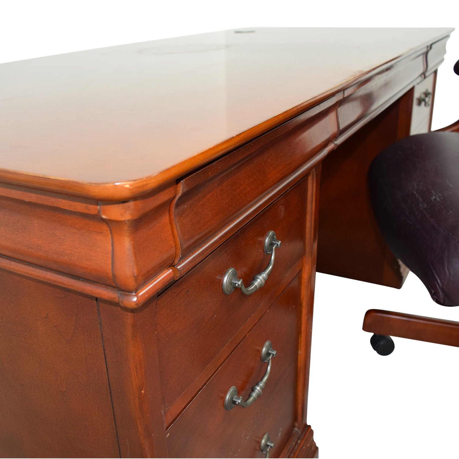 ... Havertys Executive Desk With Leather Chair Havertys ...