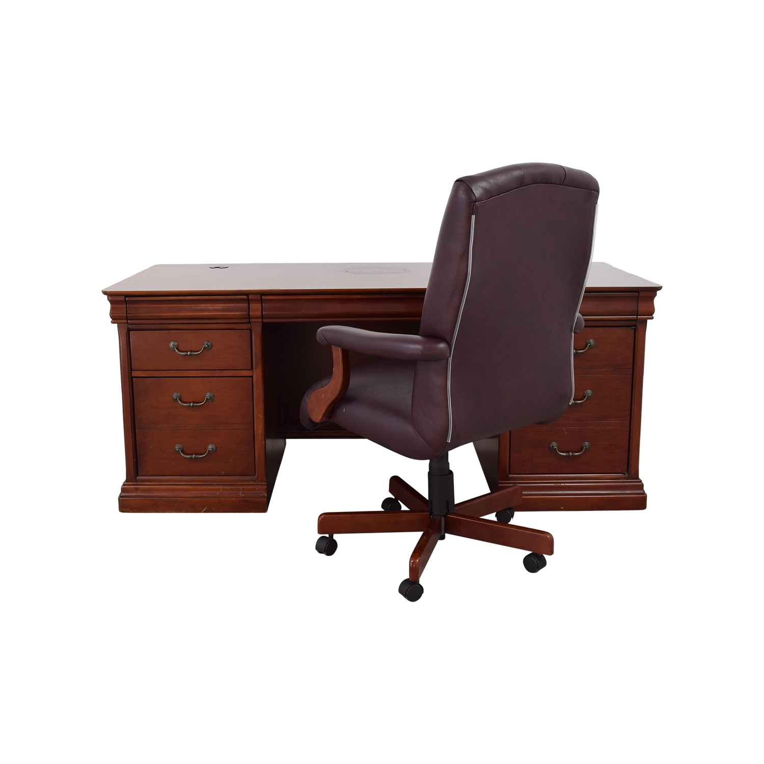 Havertys Havertys Executive Desk with Leather Chair nyc