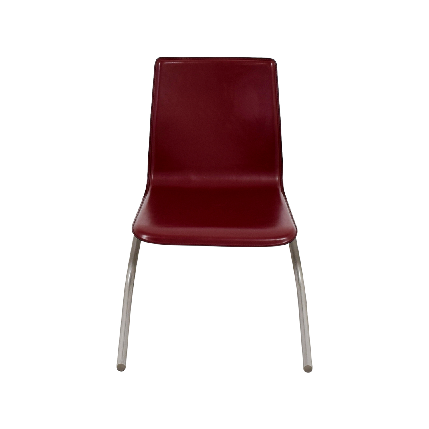 ... Frighetto Industries Frighetto Industries Modern Red Faux Leather Chair  Dimensions ...
