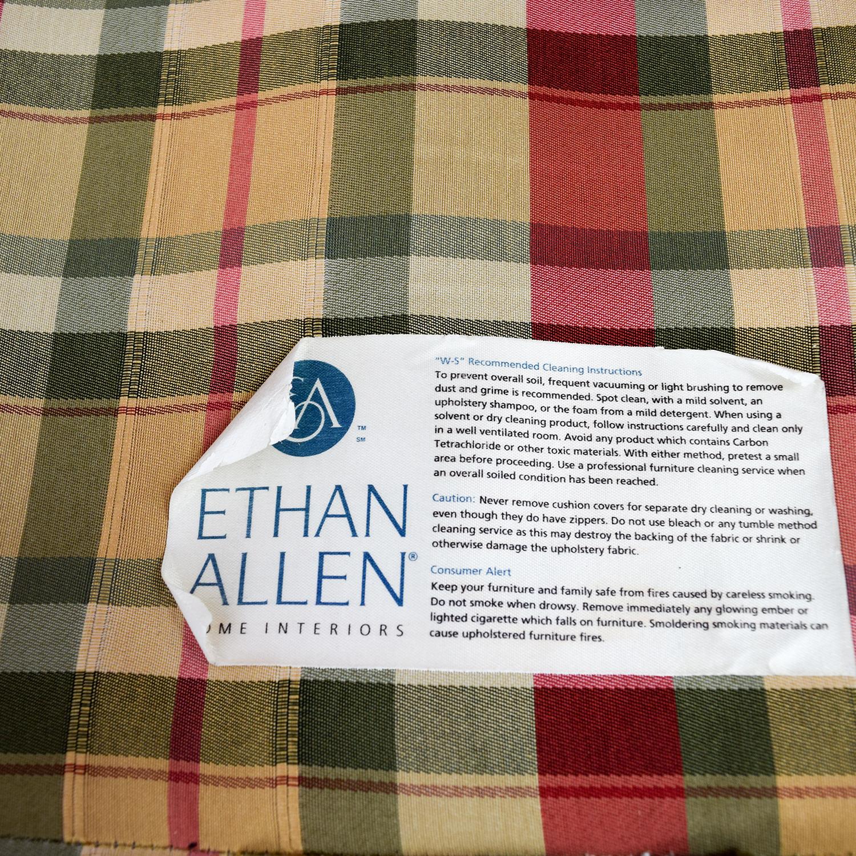 90 Off Ethan Allen Ethan Allen Retreat Roll Arm Plaid Four Piece Sectional Sofas