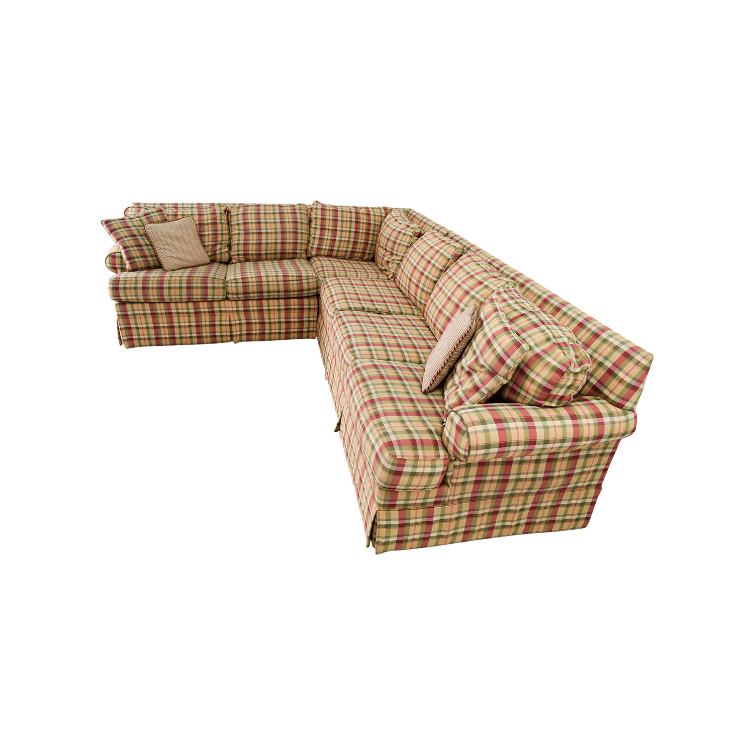 90 Off Ethan Allen Ethan Allen Retreat Roll Arm Plaid