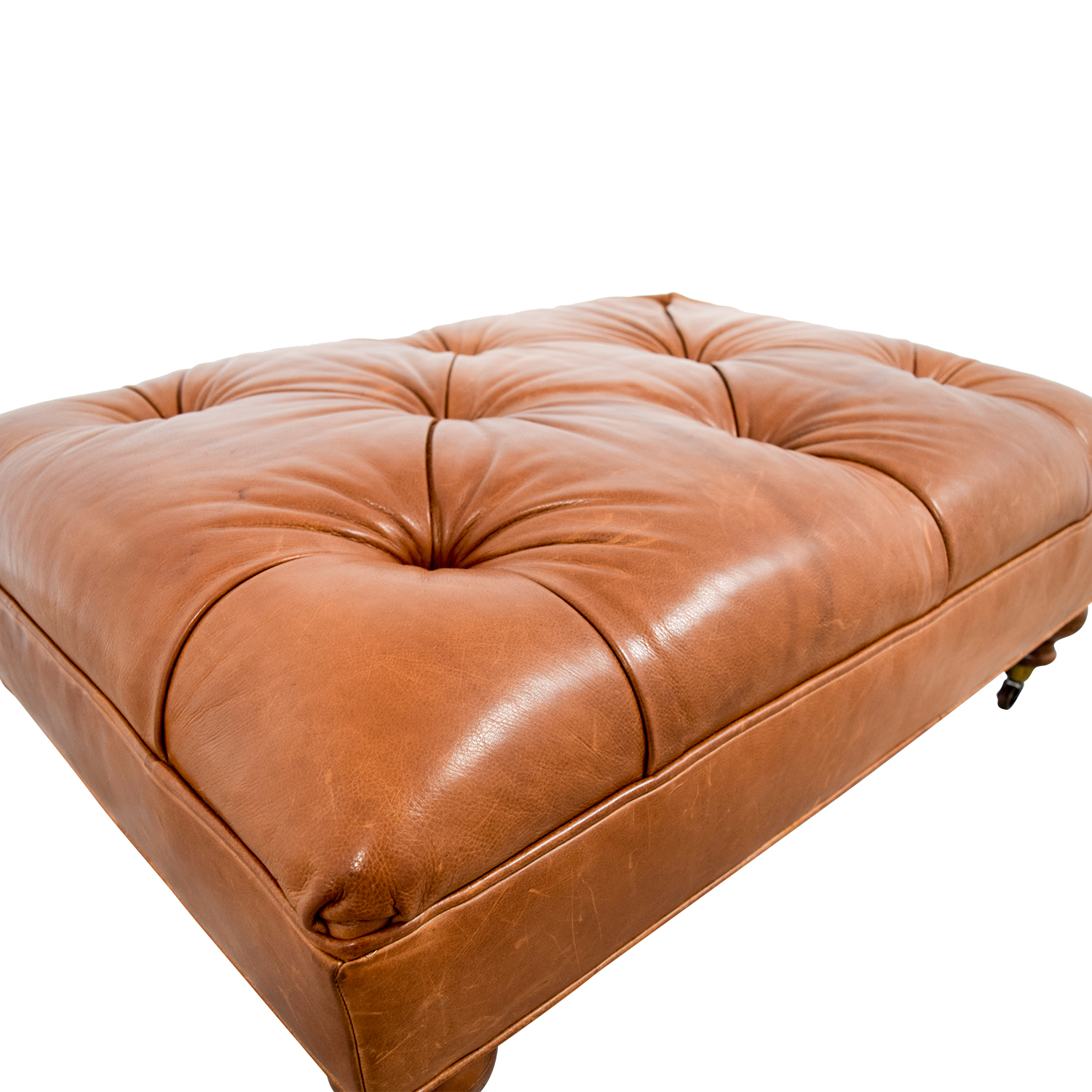 81 Off Ethan Allen Ethan Allen Anton Tufted Leather