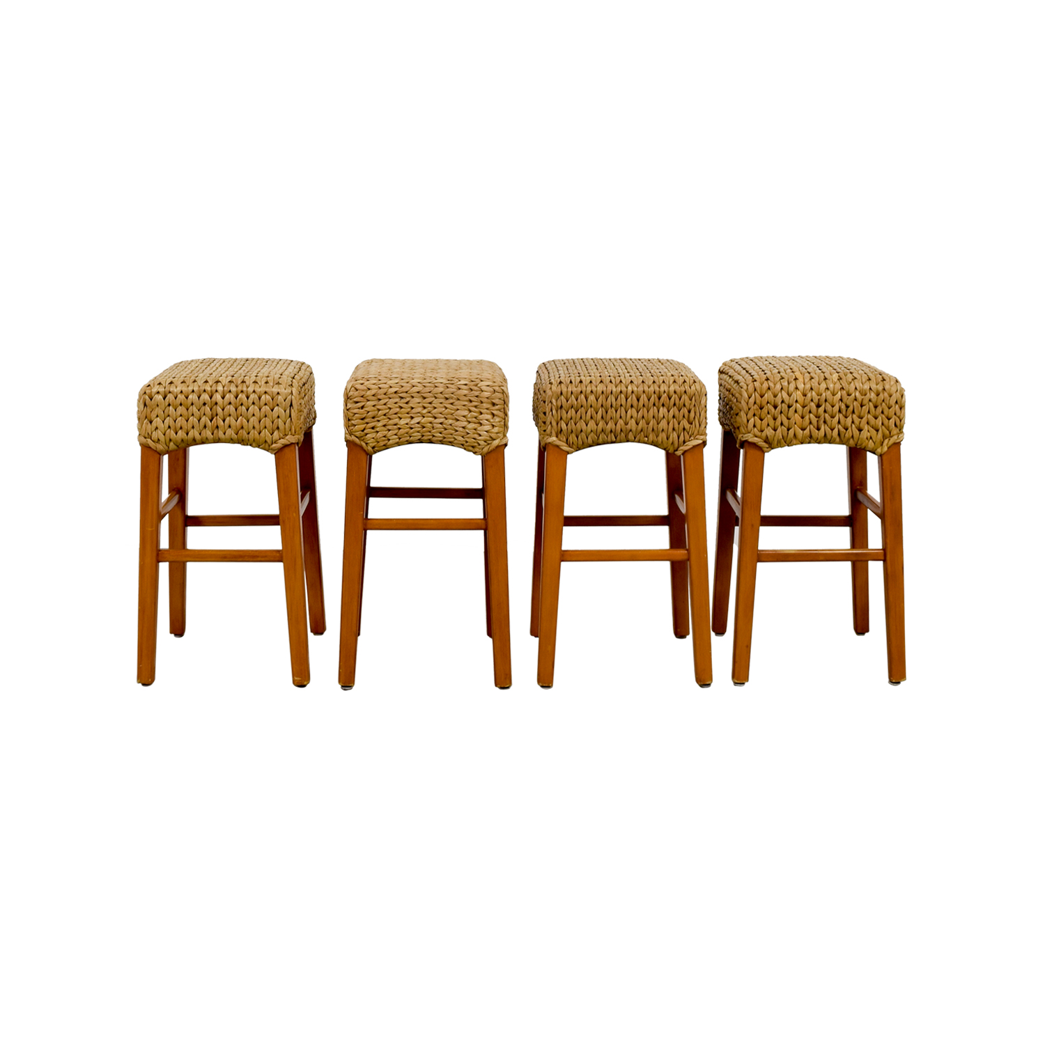 Bar Stools And High Table, 90 Off Pottery Barn Pottery Barn Sea Grass Stools Chairs
