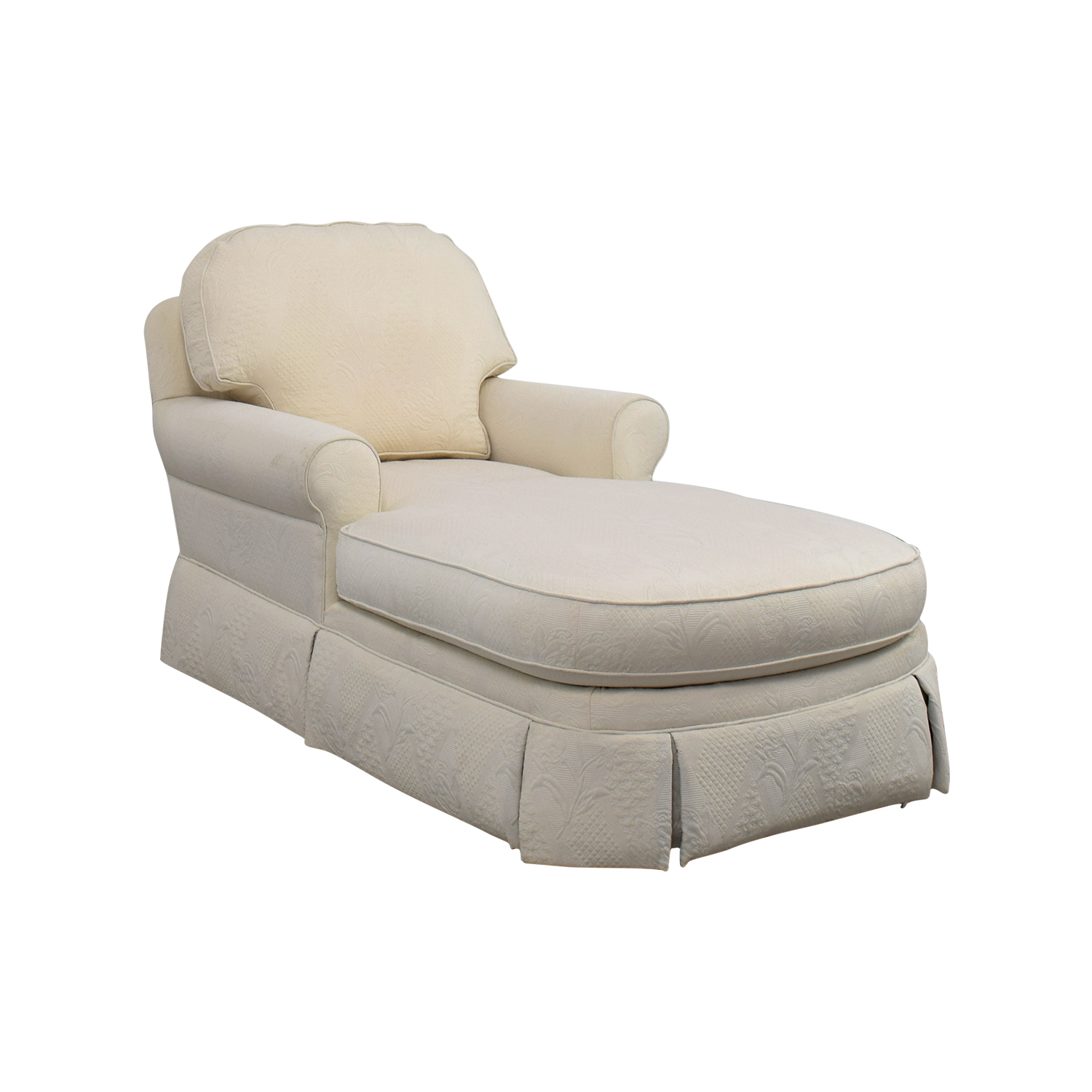 ... used; Ethan Allen Victoria White Chaise Lounge Ethan Allen ...  sc 1 st  Furnishare : second hand chaise lounge - Sectionals, Sofas & Couches
