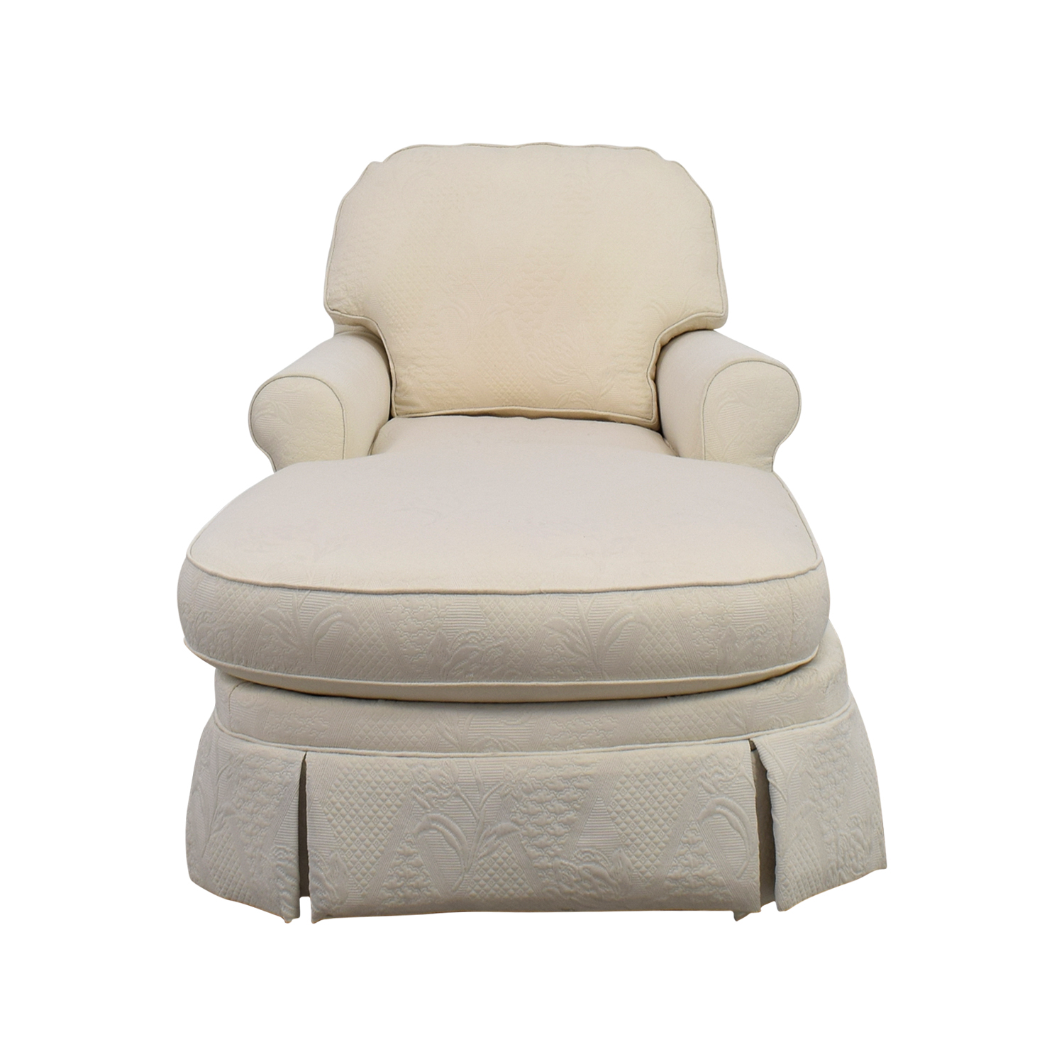 Ethan Allen Ethan Allen Victoria White Chaise Lounge on sale