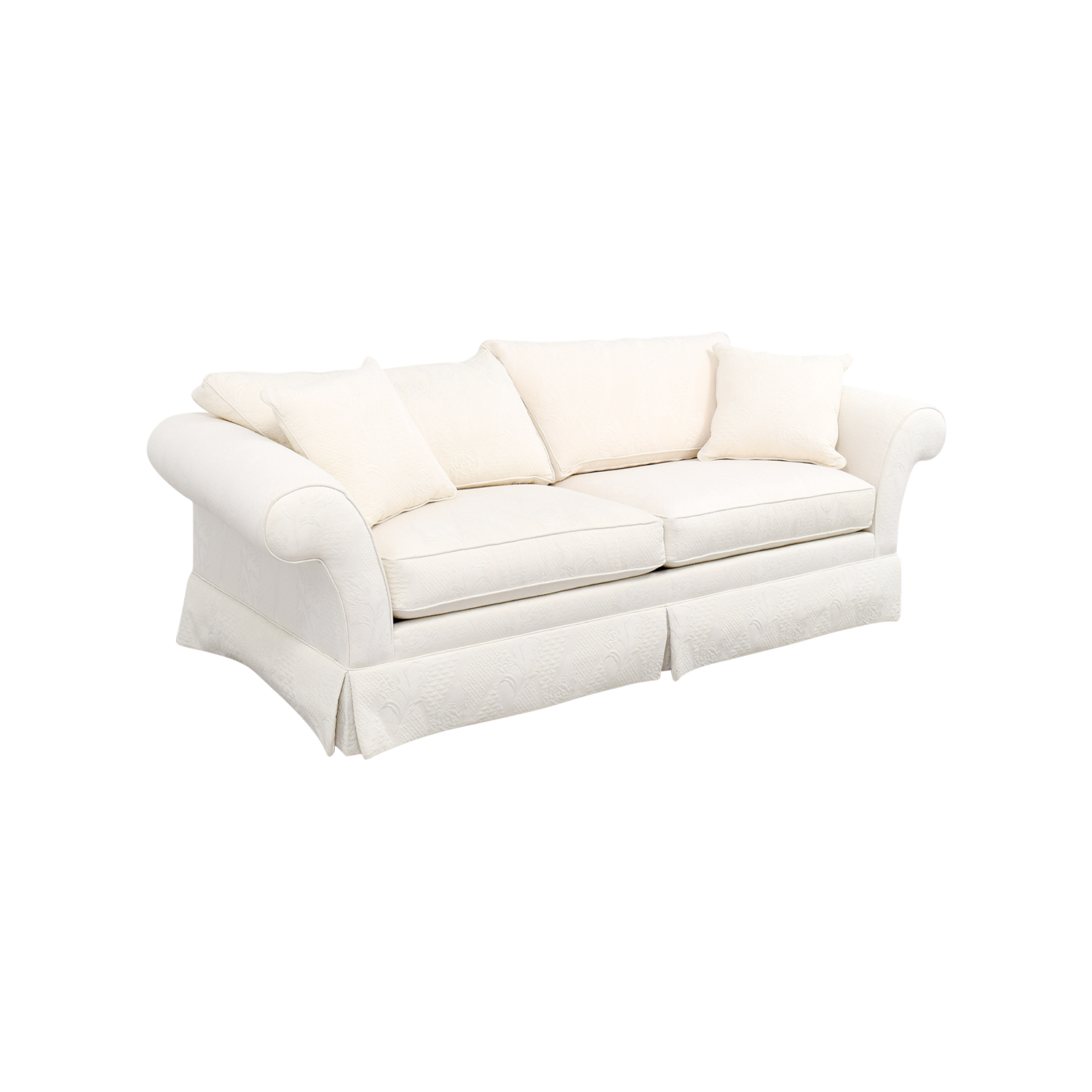 90 Off Ethan Allen Ethan Allen Rolled Arm White Sofa