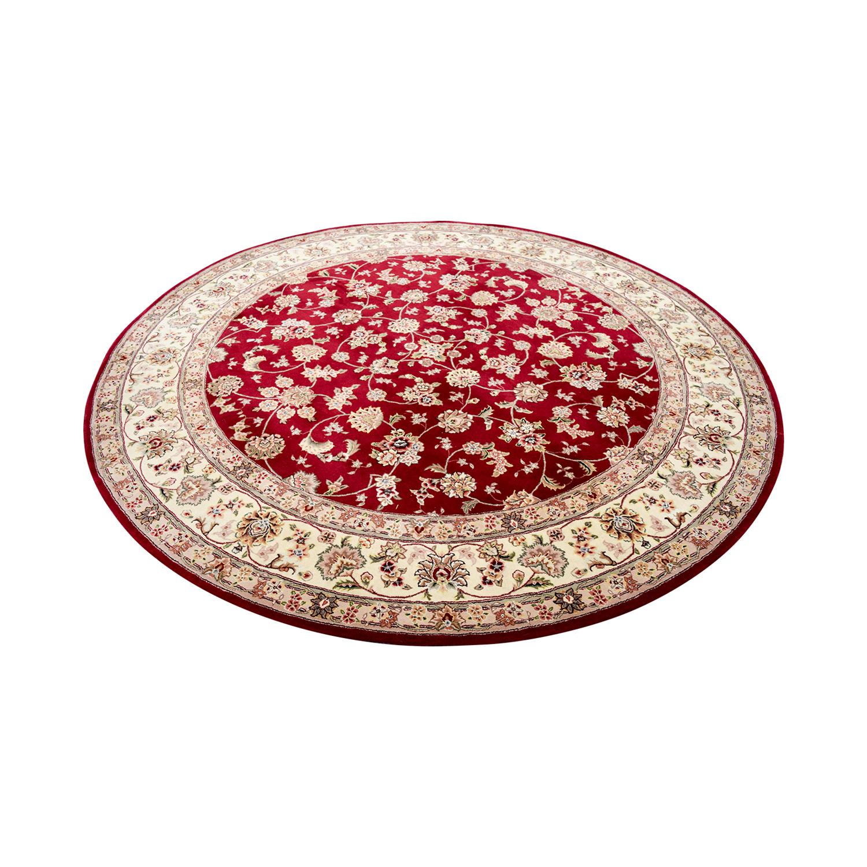 shop Red Round Rug online