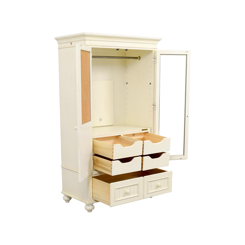 80 Off Ethan Allen Ethan Allen White Armoire Storage
