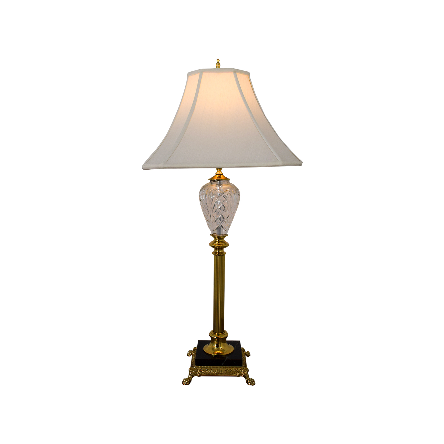 Waterford Lismore Glass and Gold Lamp / Lamps