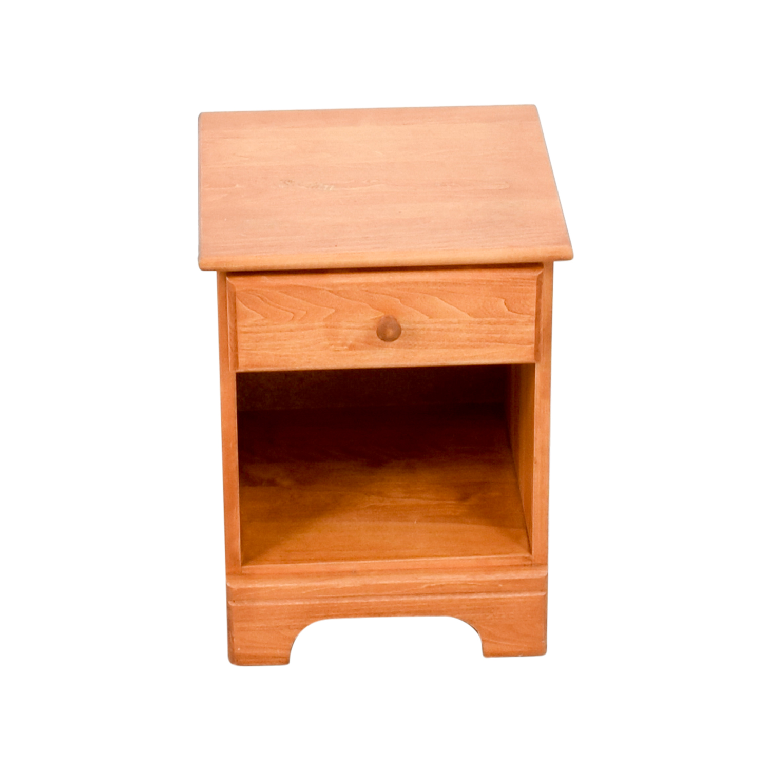 Natural Wood Single Drawer Nightstand sale