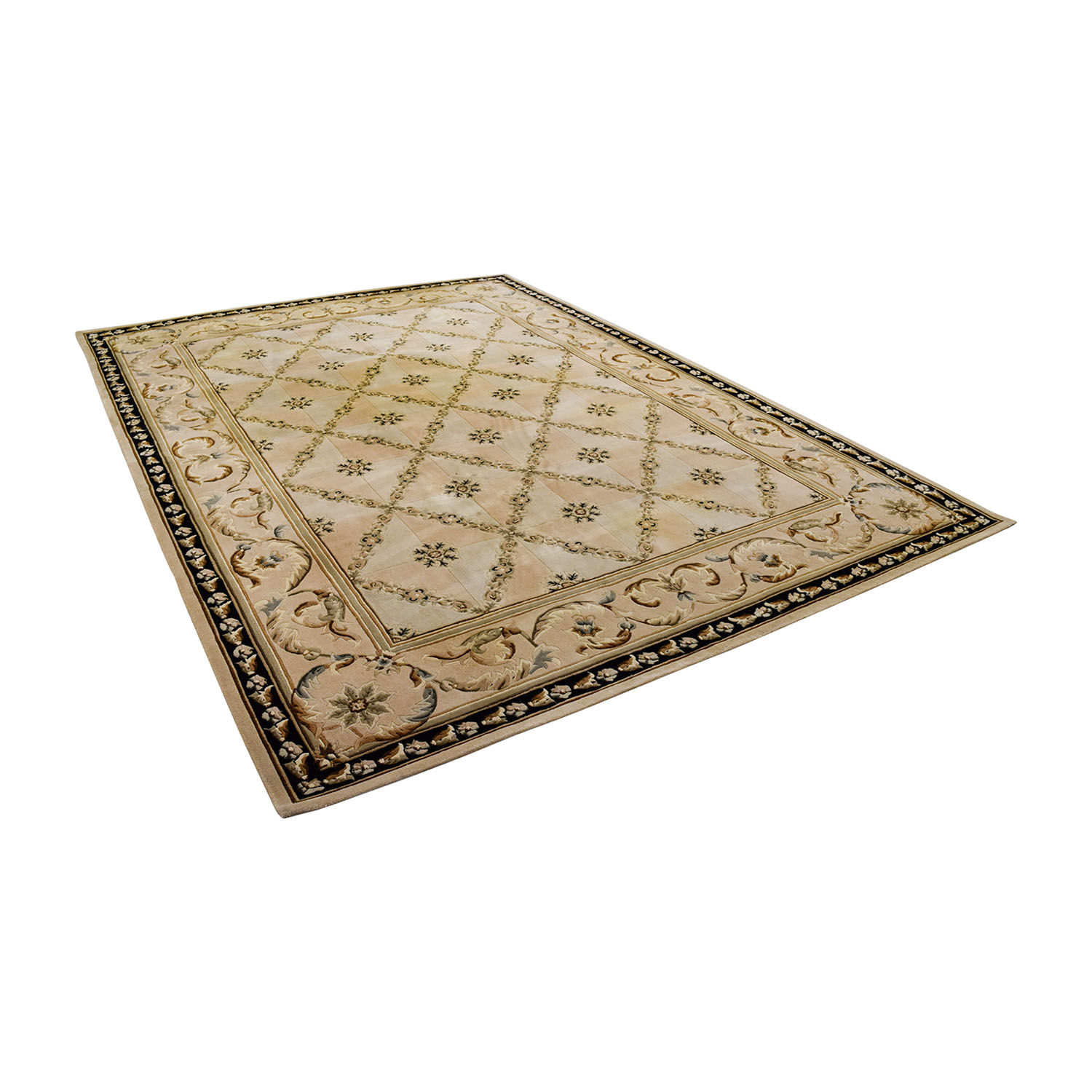 Beige Decorative 8 x 11 Rug