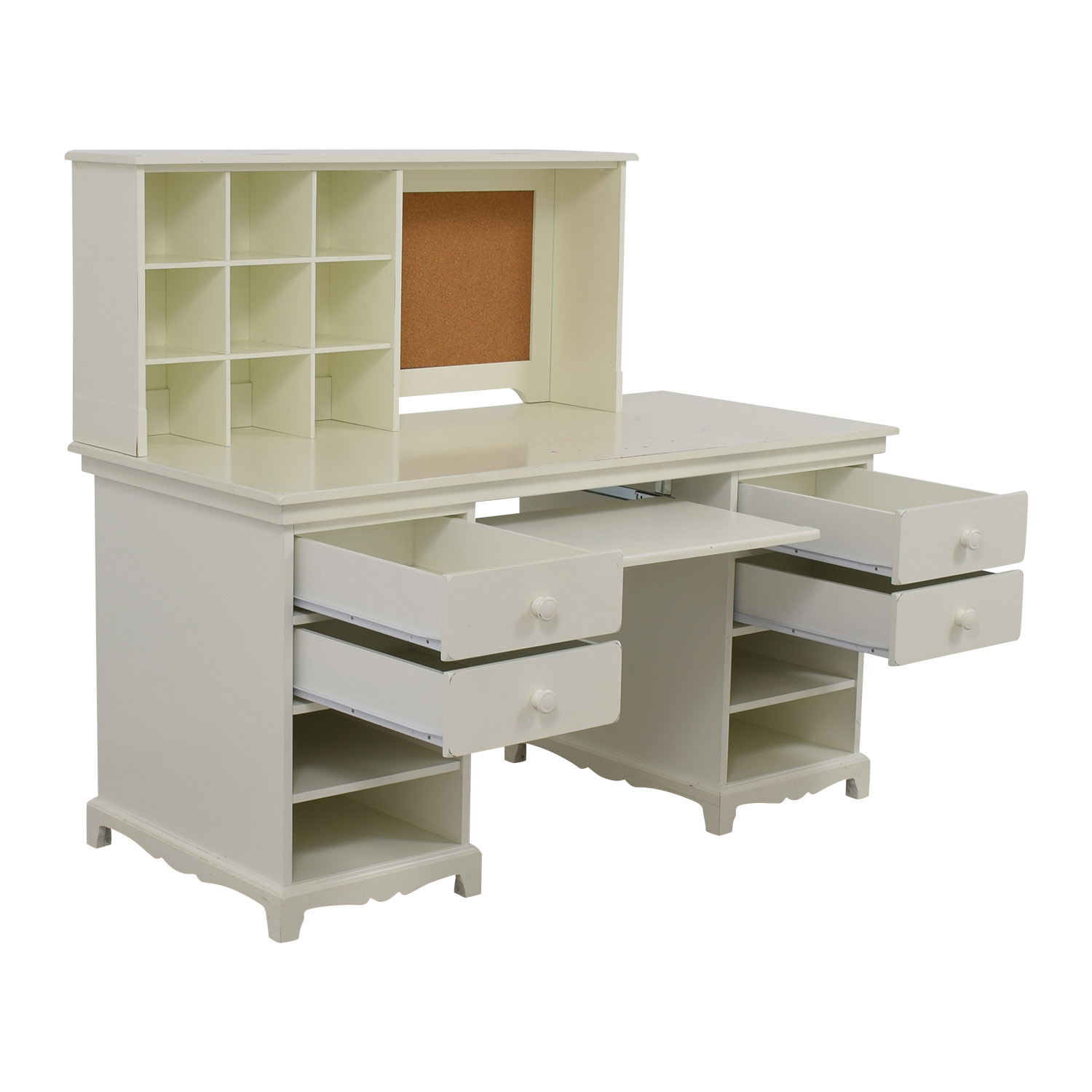 55 Off Pottery Barn Pottery Barn White Desk With Cubby