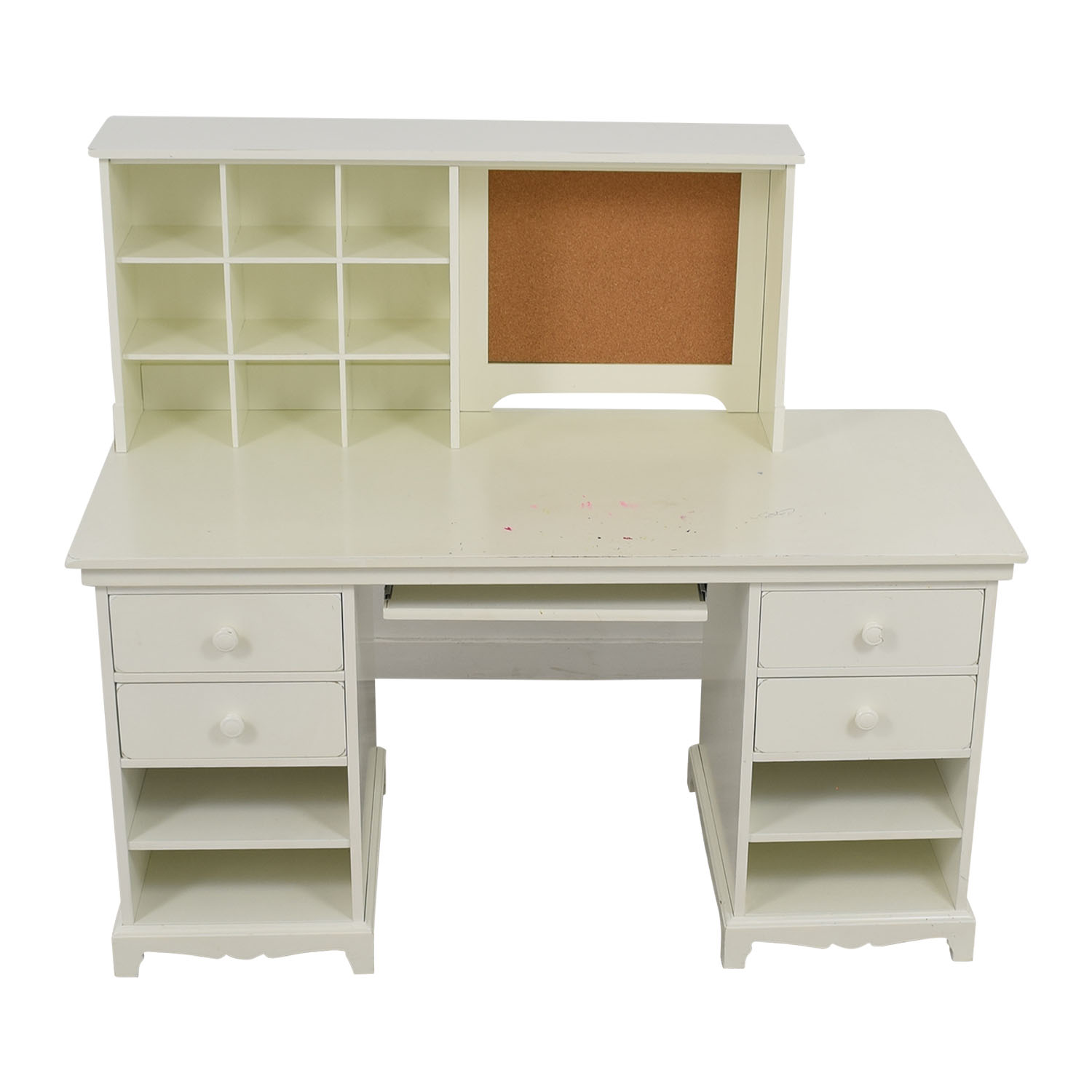 shop Pottery Barn White Desk with Cubby Pottery Barn Home Office Desks