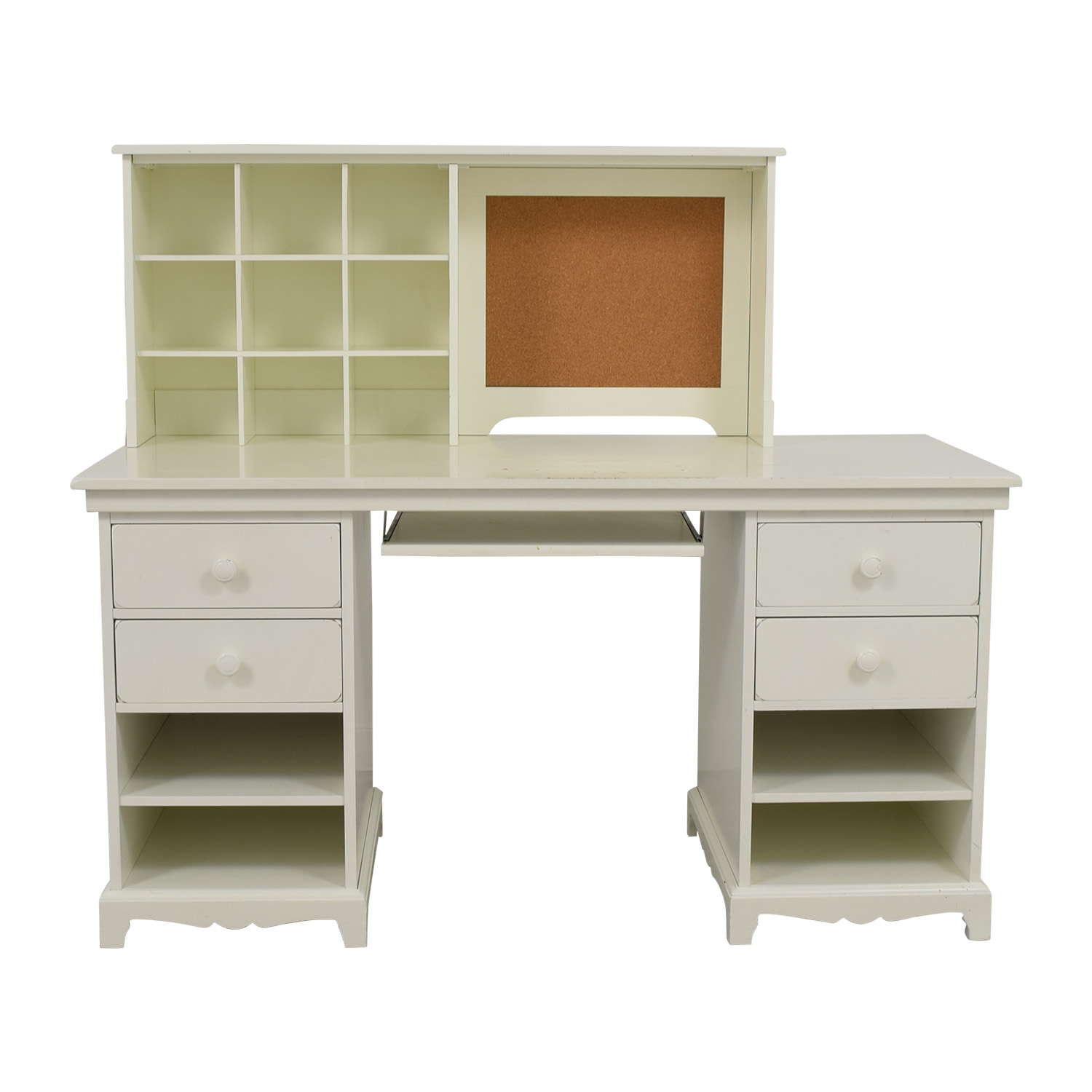 Pottery Barn Pottery Barn White Desk with Cubby on sale