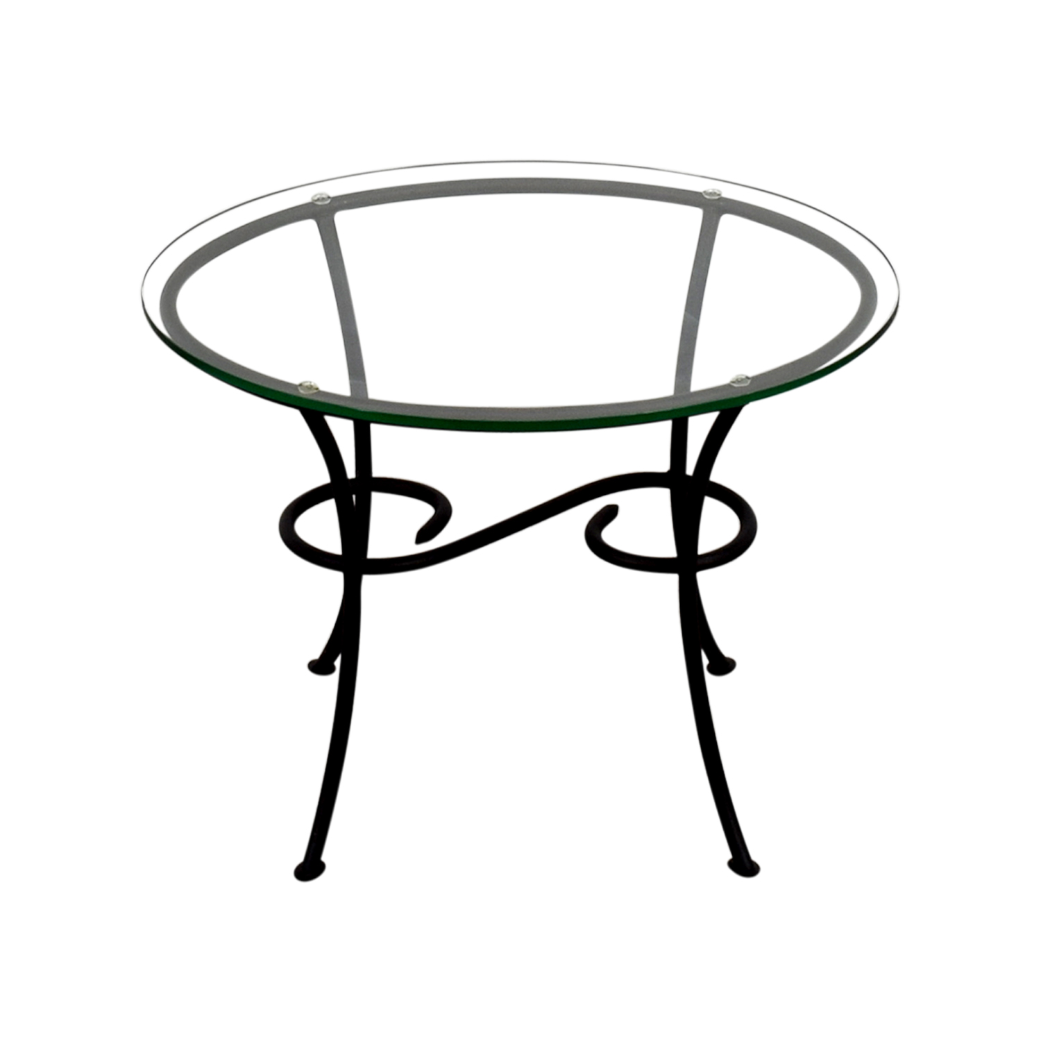 Glass Scroll Side Table dimensions