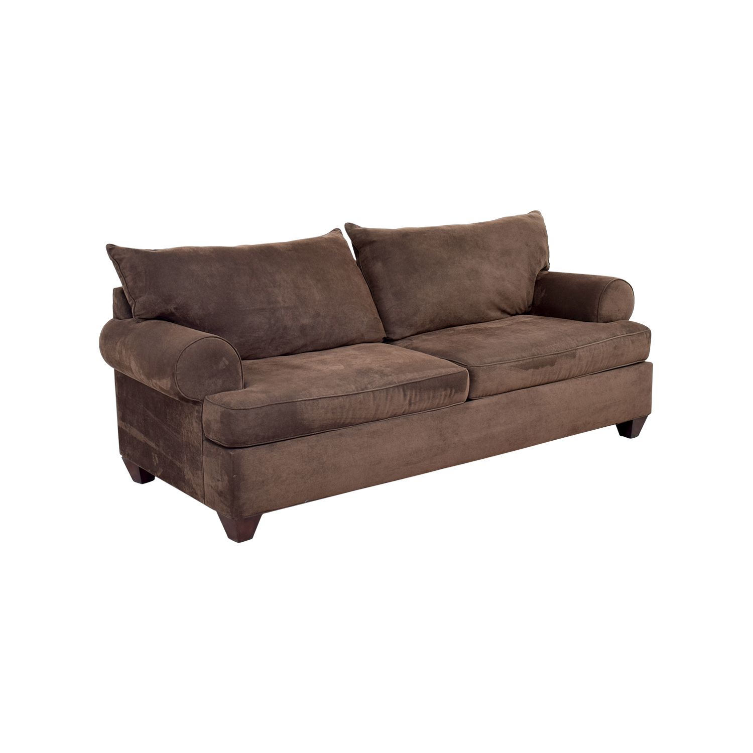 ... Brown Corduroy Two Cushion Couch Second Hand ...