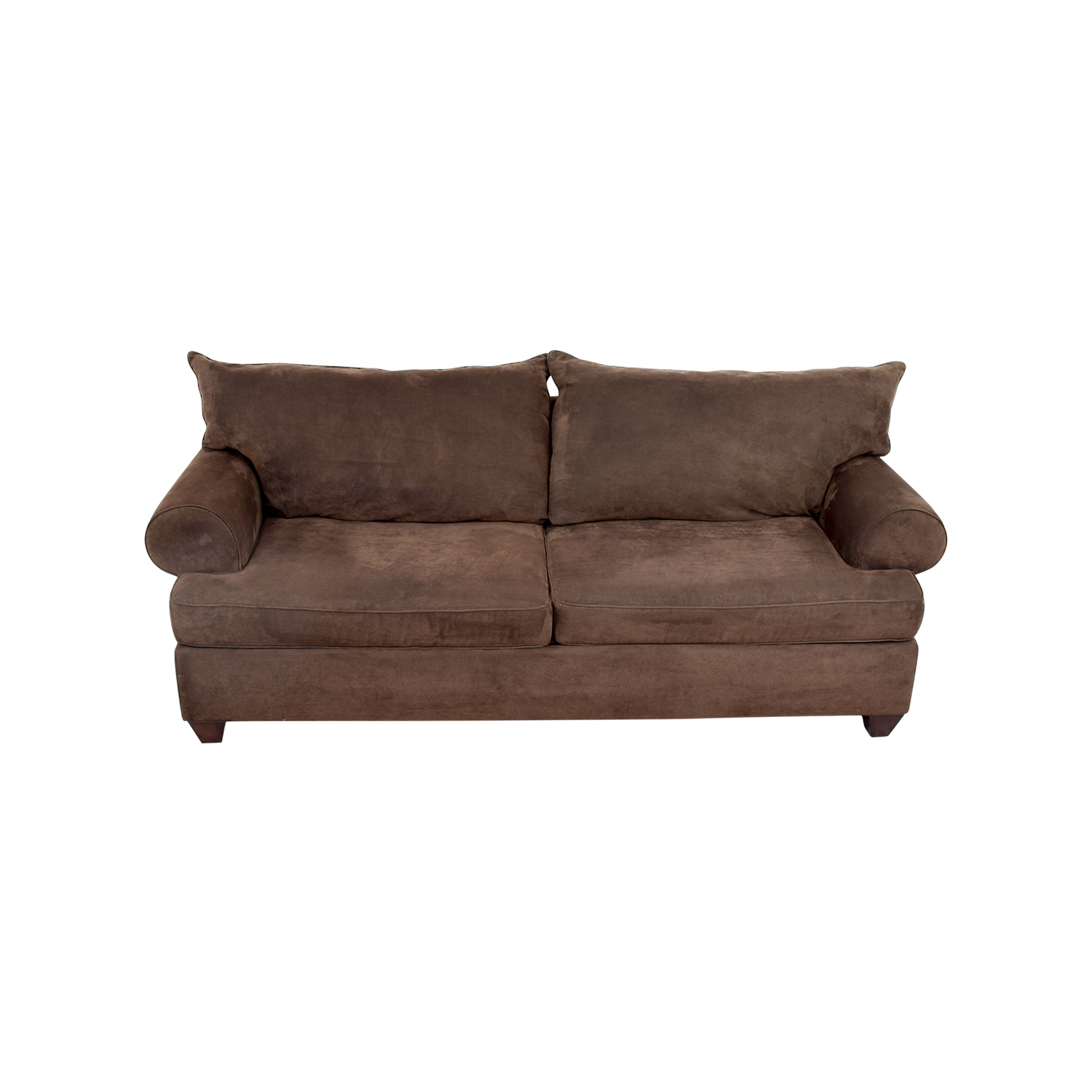 Brown Corduroy Two-Cushion Couch nyc