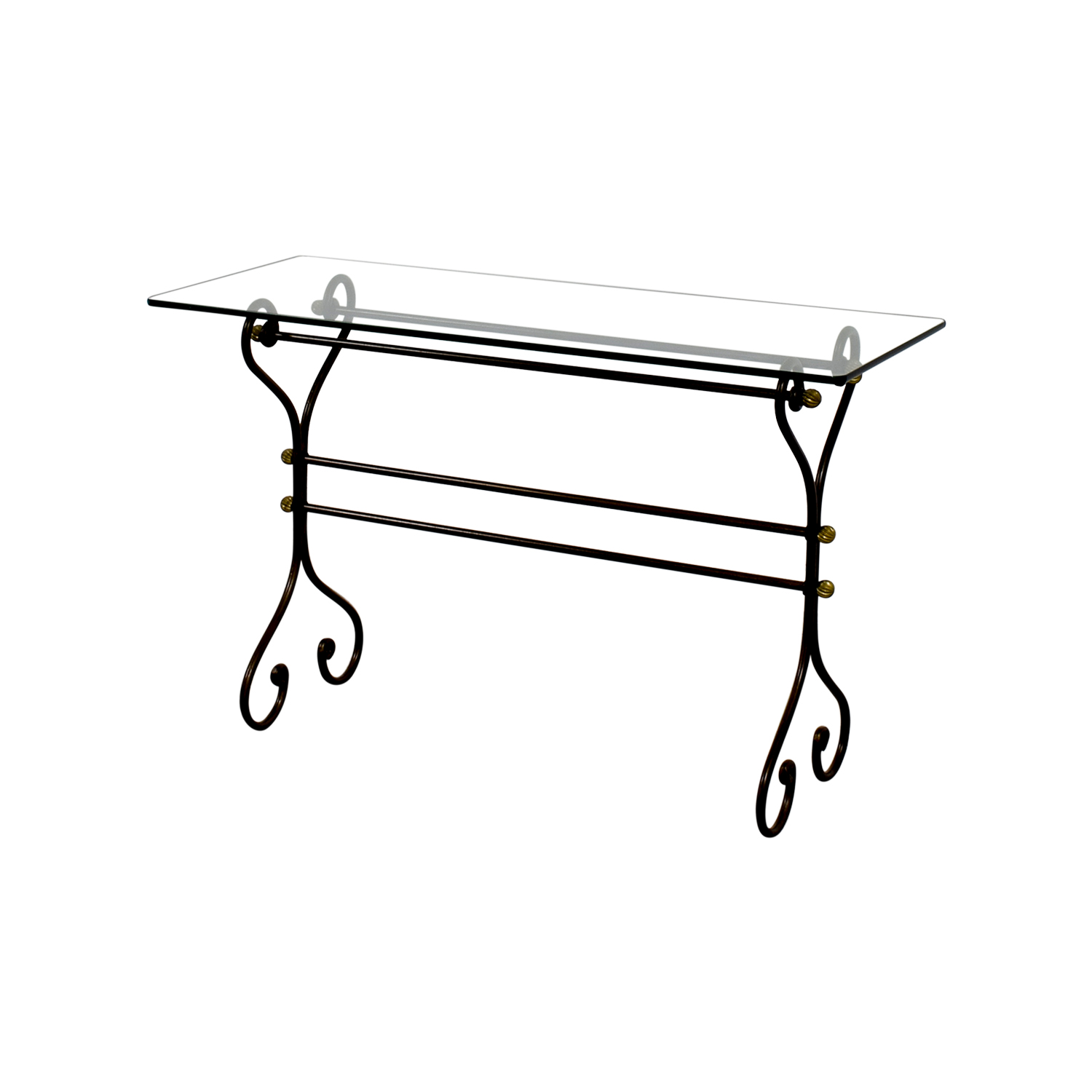 61 off glass and iron sofa table tables shop glass and iron sofa table utility tables geotapseo Image collections