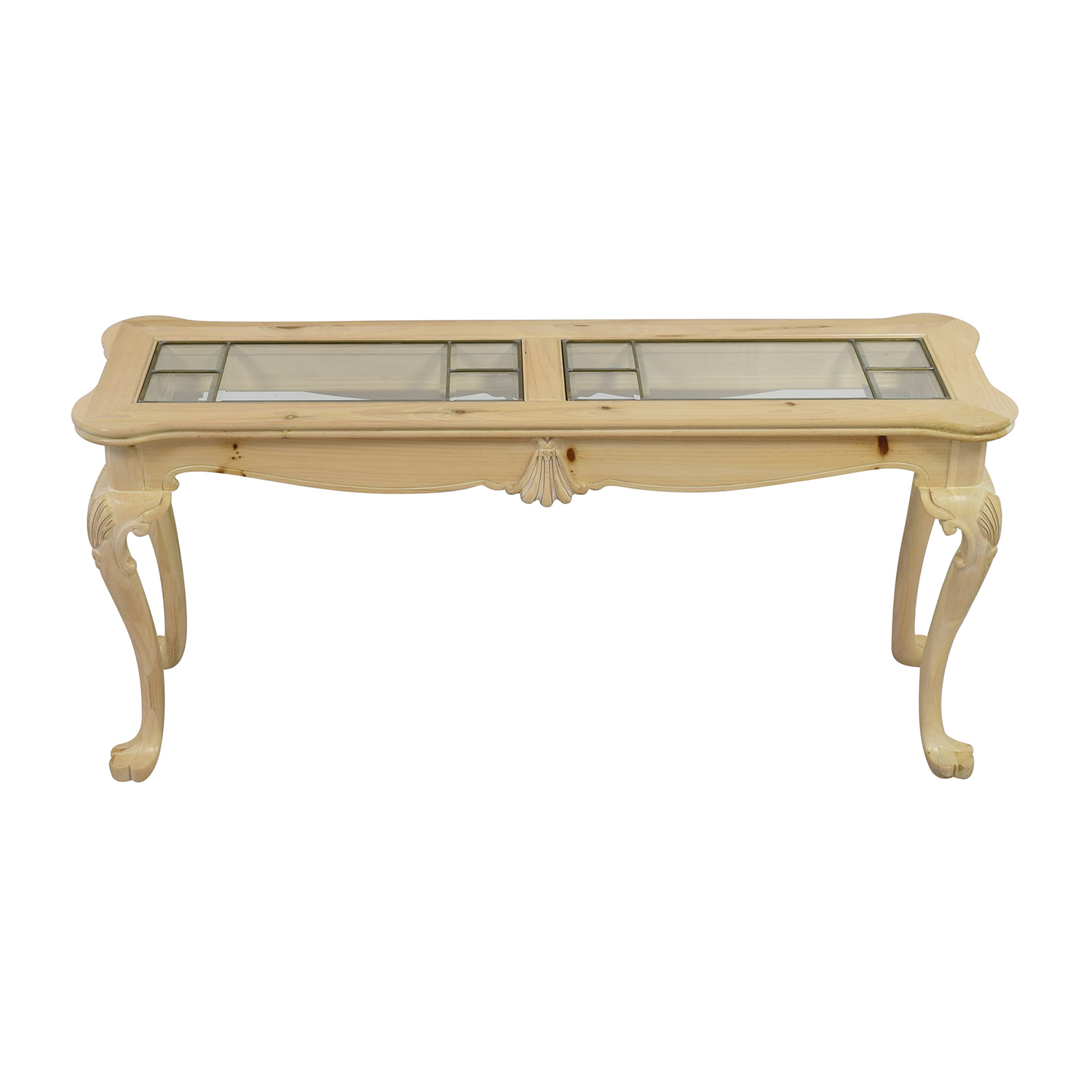 Lexington Lexington Natural Wood and Glass Sofa Table discount
