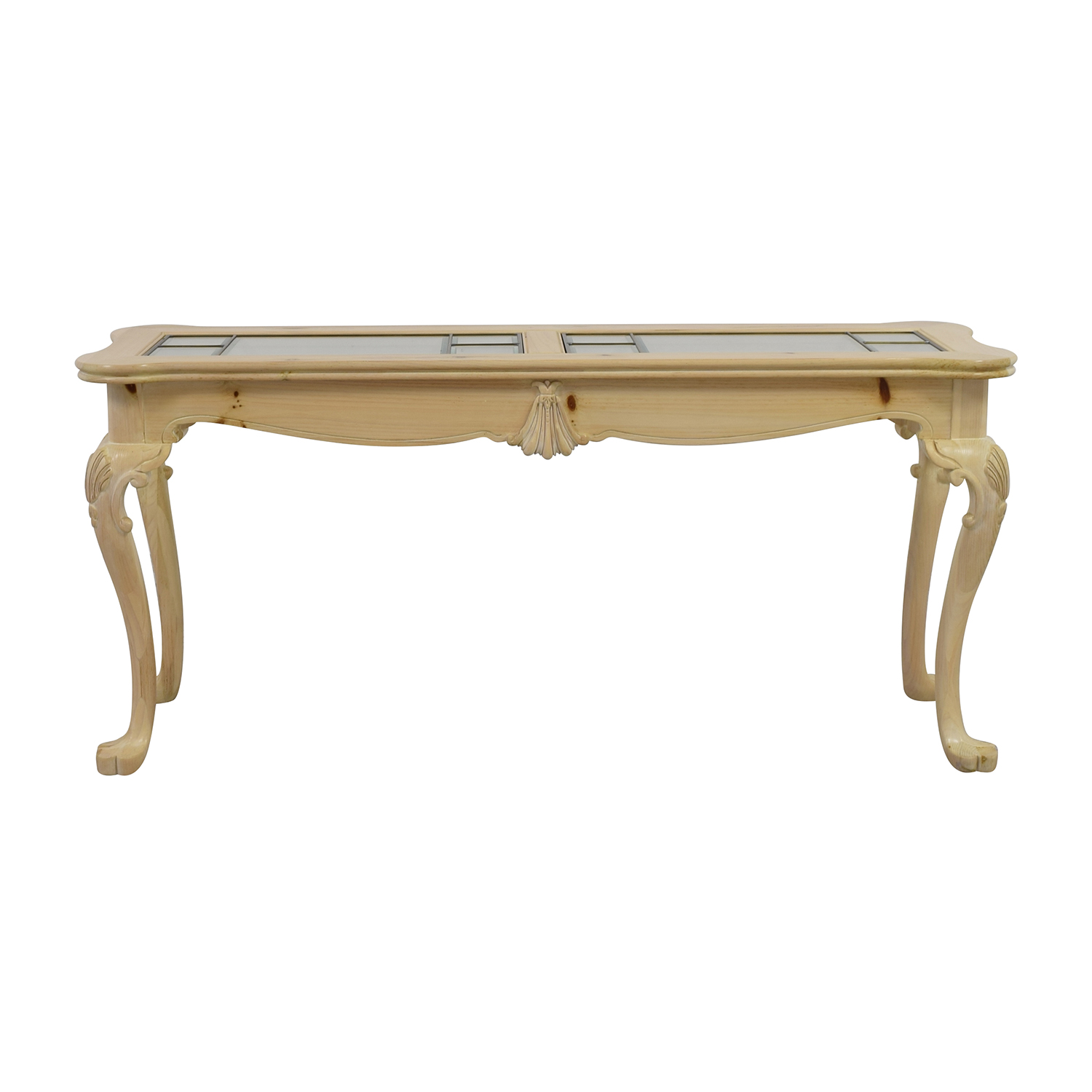 Lexington Lexington Natural Wood and Glass Sofa Table nyc