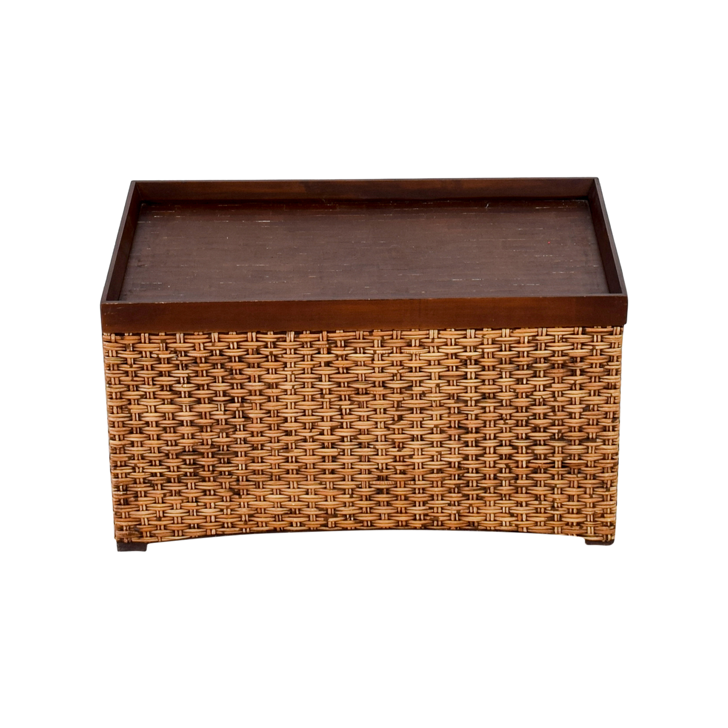 Woven Storage Trunk nyc  sc 1 st  Furnishare & 56% OFF - Black u0026 Metal Trunk / Storage