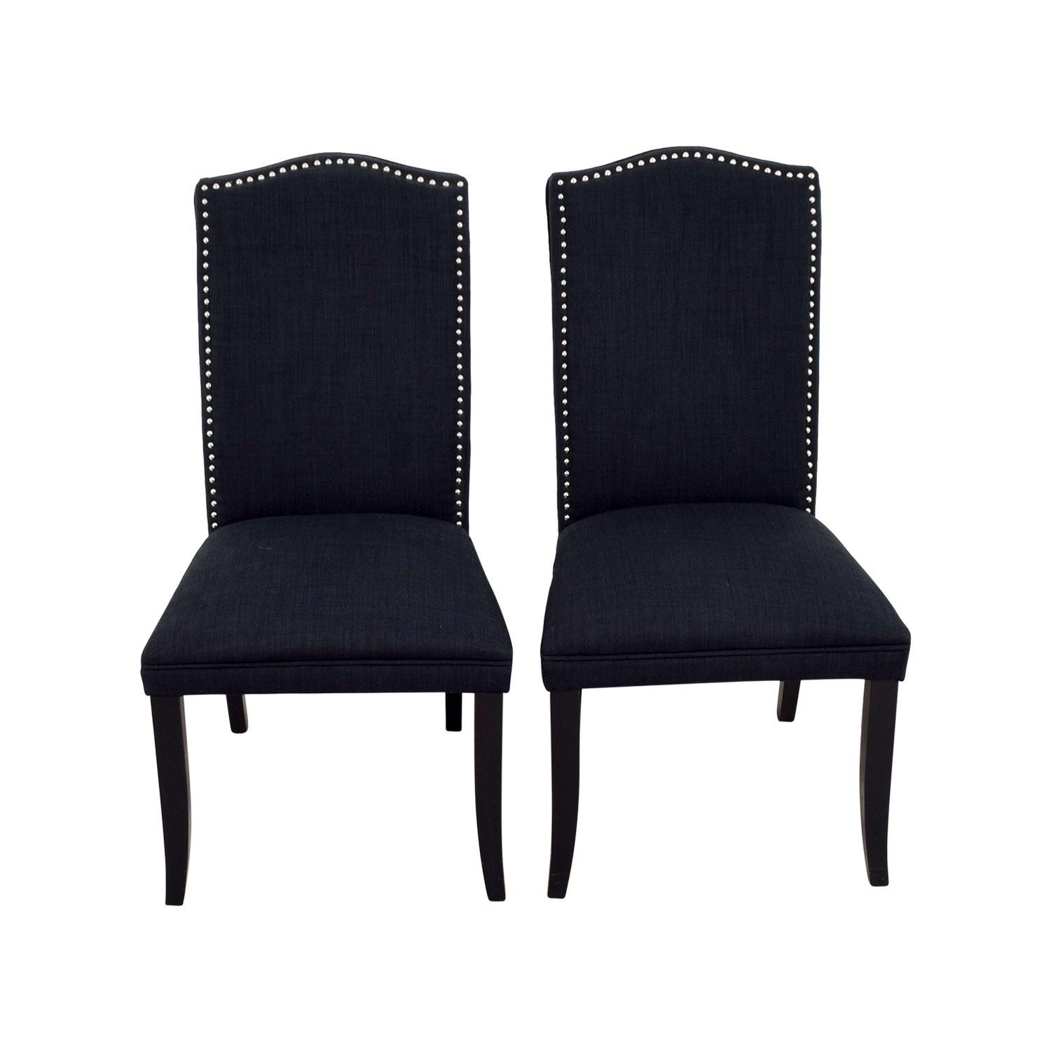 ... Cortesi Home Cortesi Home Linen Upholstered Nailhead Chairs Dimensions  ...