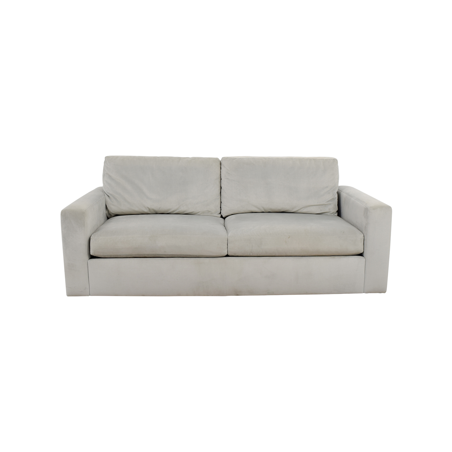 shop Room & Board Pearl Grey Two-Cushion Sofa Room & Board