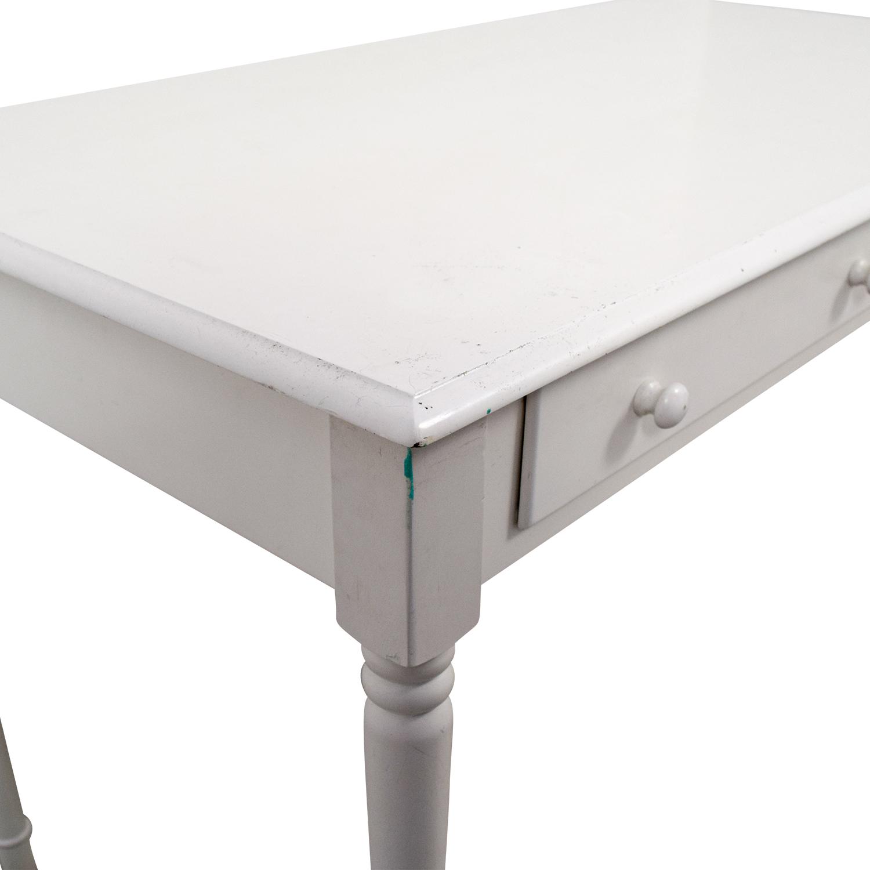 buy White Wooden Two-Drawer Desk online