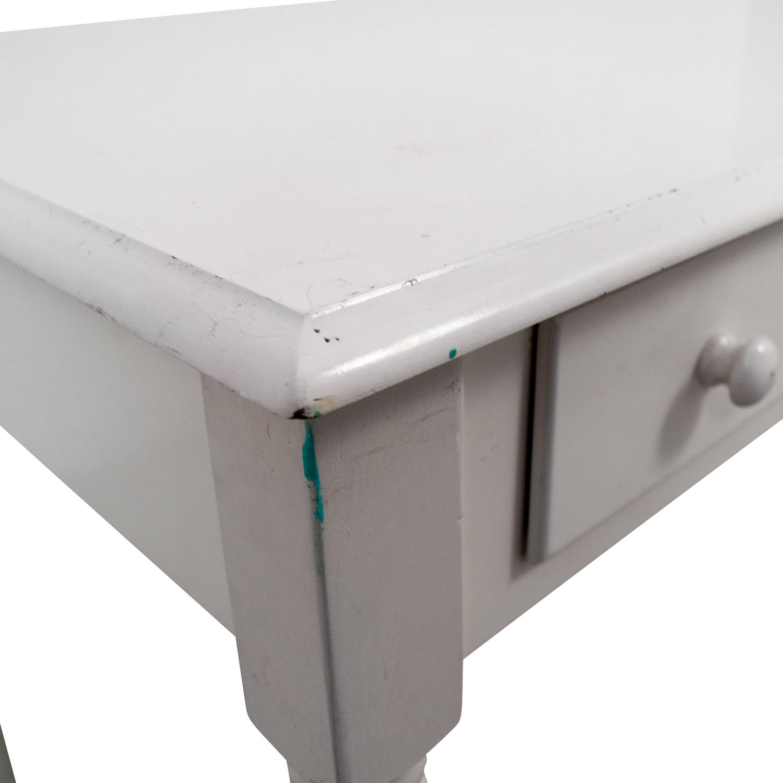 shop White Wooden Two-Drawer Desk