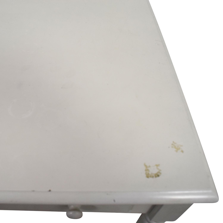 White Wooden Two-Drawer Desk / Home Office Desks
