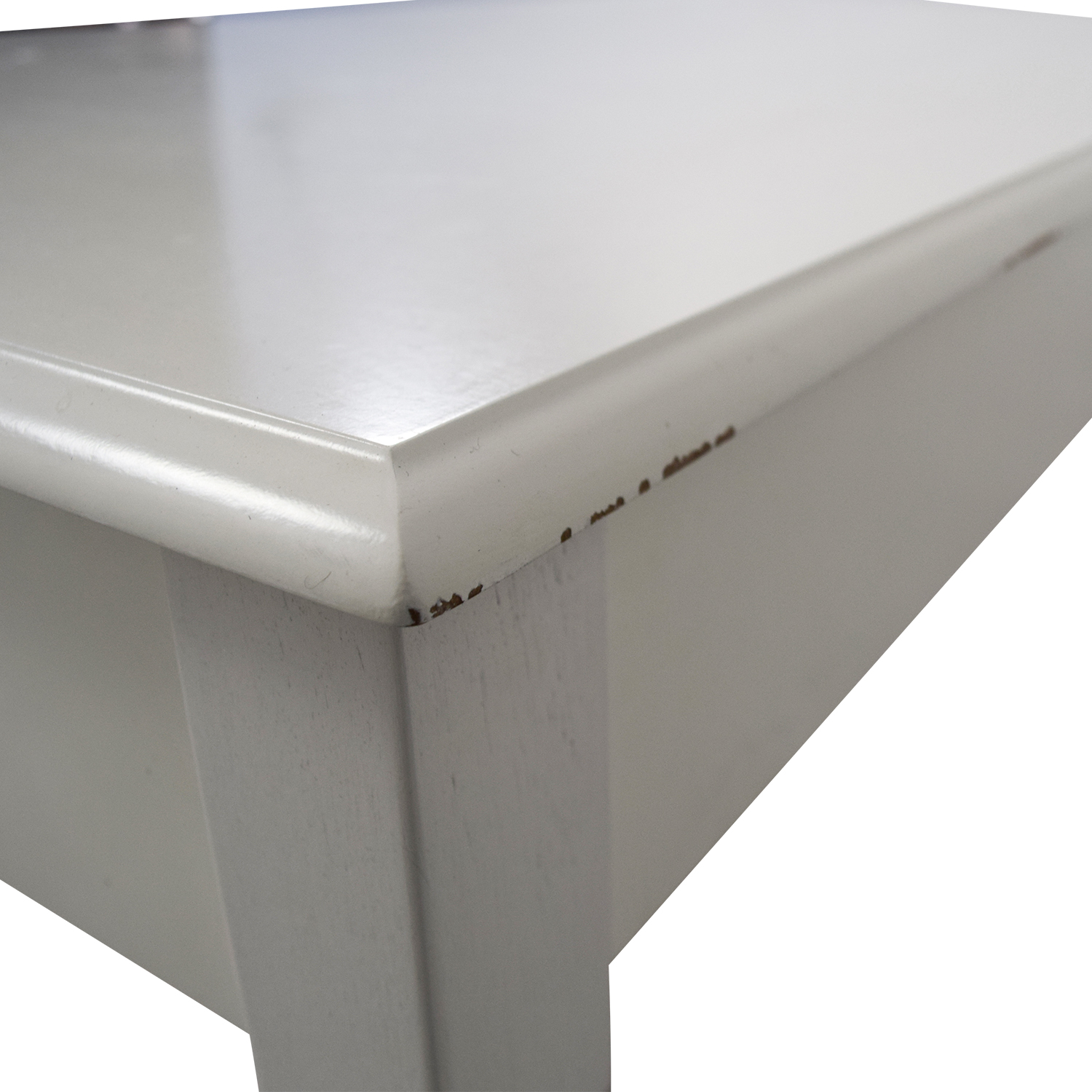 White Wooden Two-Drawer Desk coupon