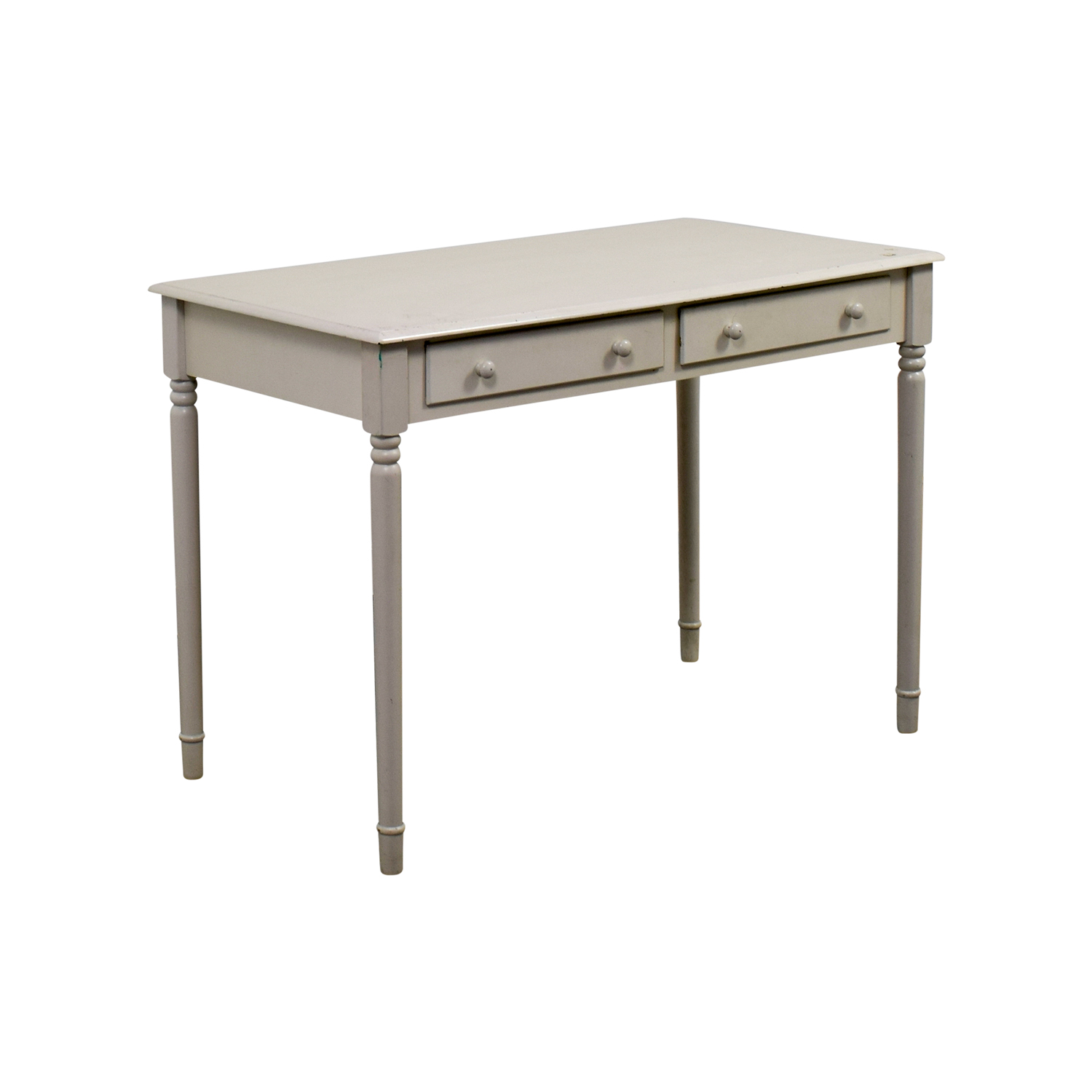 White Wooden Two-Drawer Desk nyc