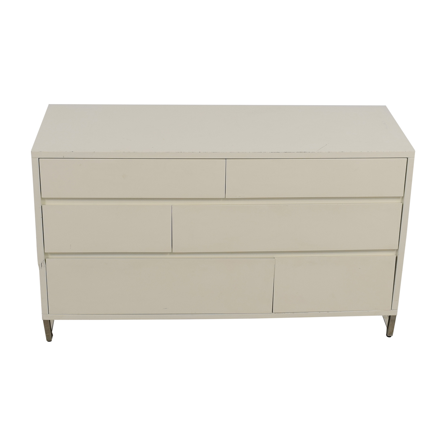 shop West Elm White Six-Drawer Dresser West Elm Storage