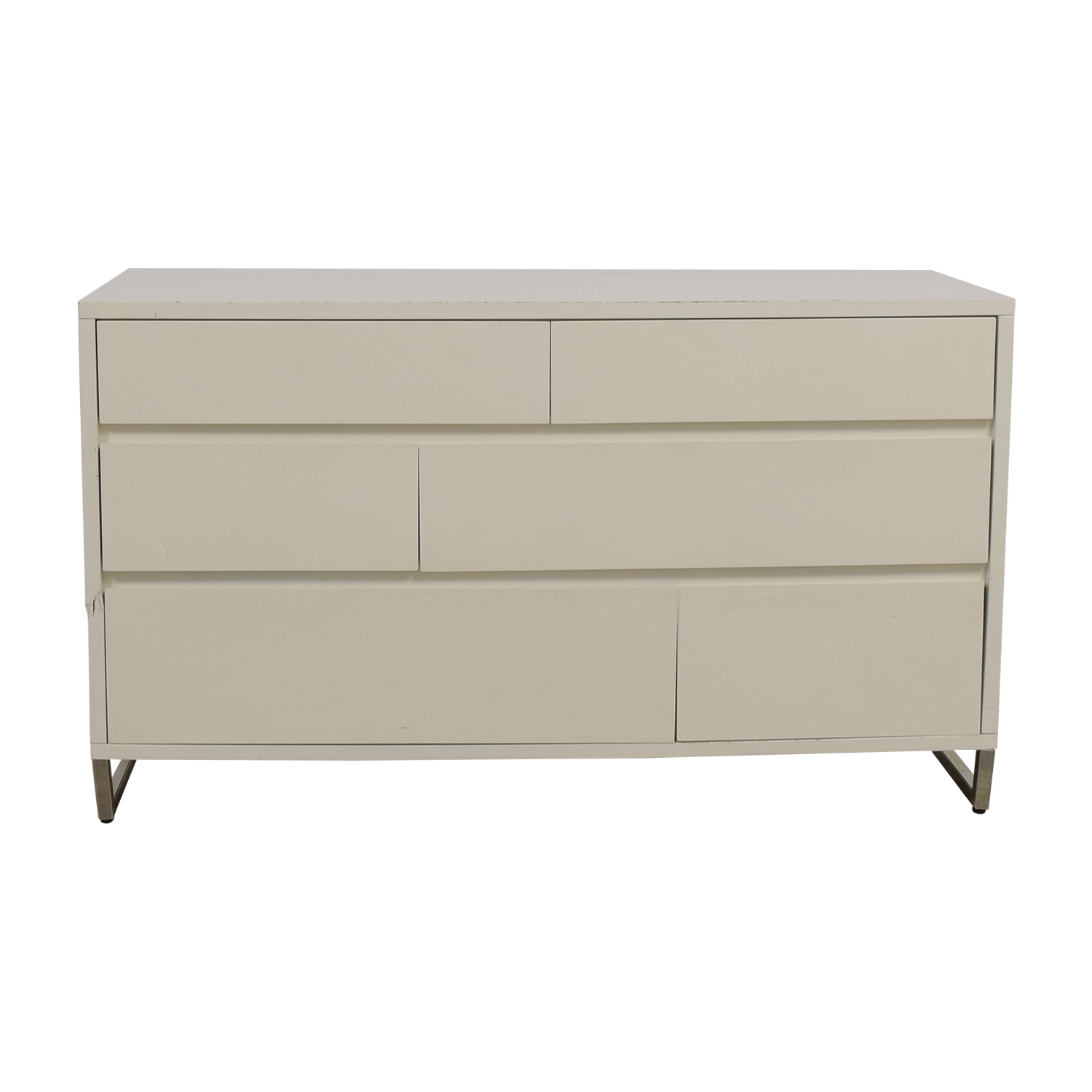 shop West Elm White Six-Drawer Dresser West Elm Dressers