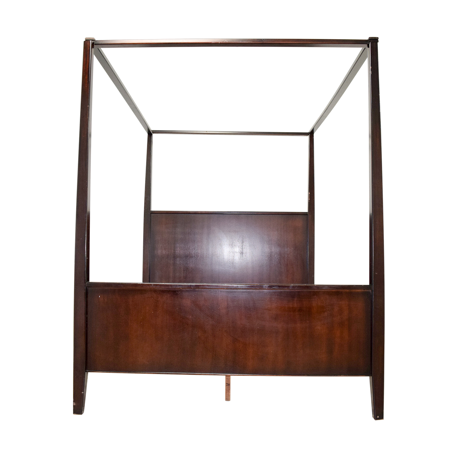Crate & Barrel Queen Four-Poster Bed sale