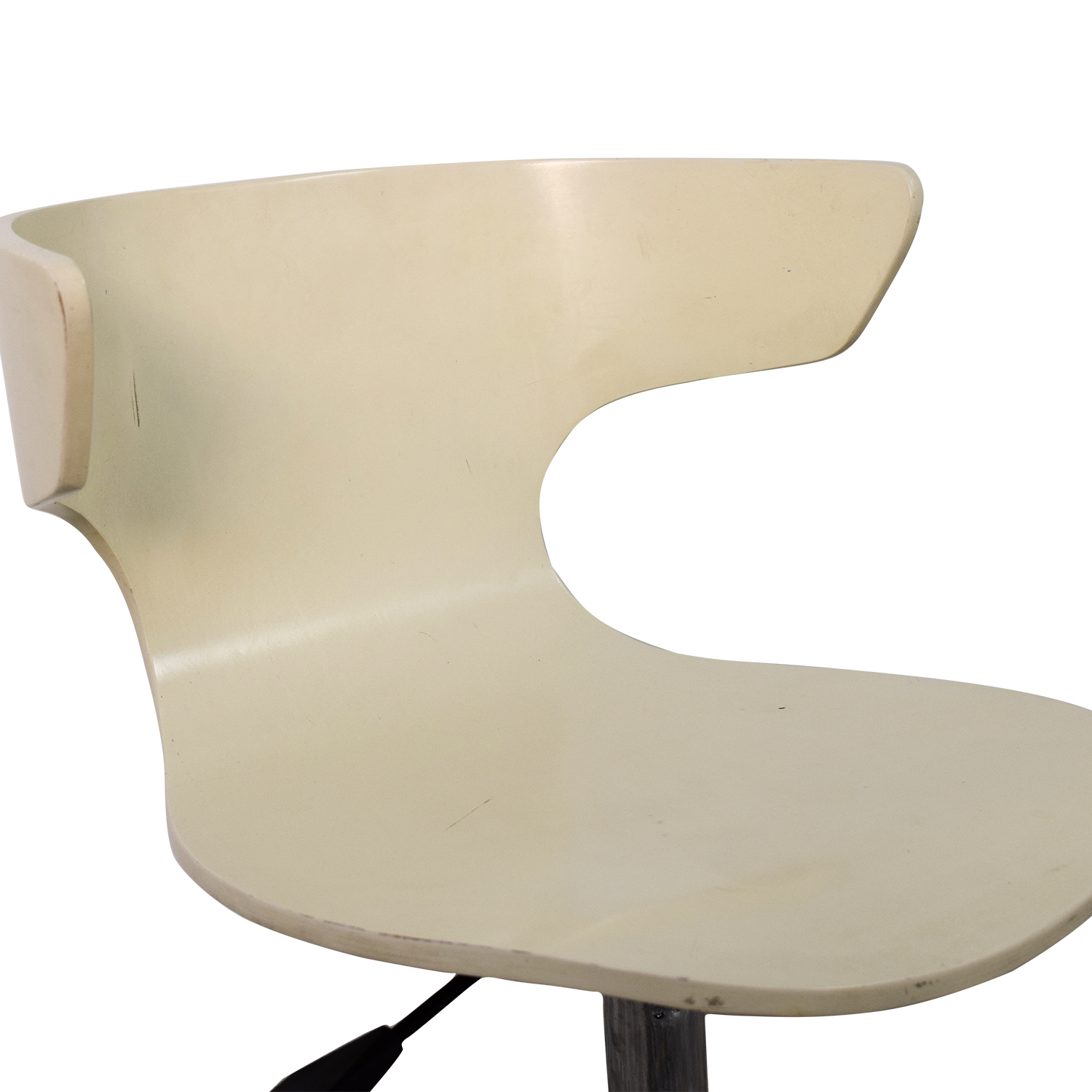 ... Chairs; Shop West Elm West Elm White Modern Chair With Casters Online  ...
