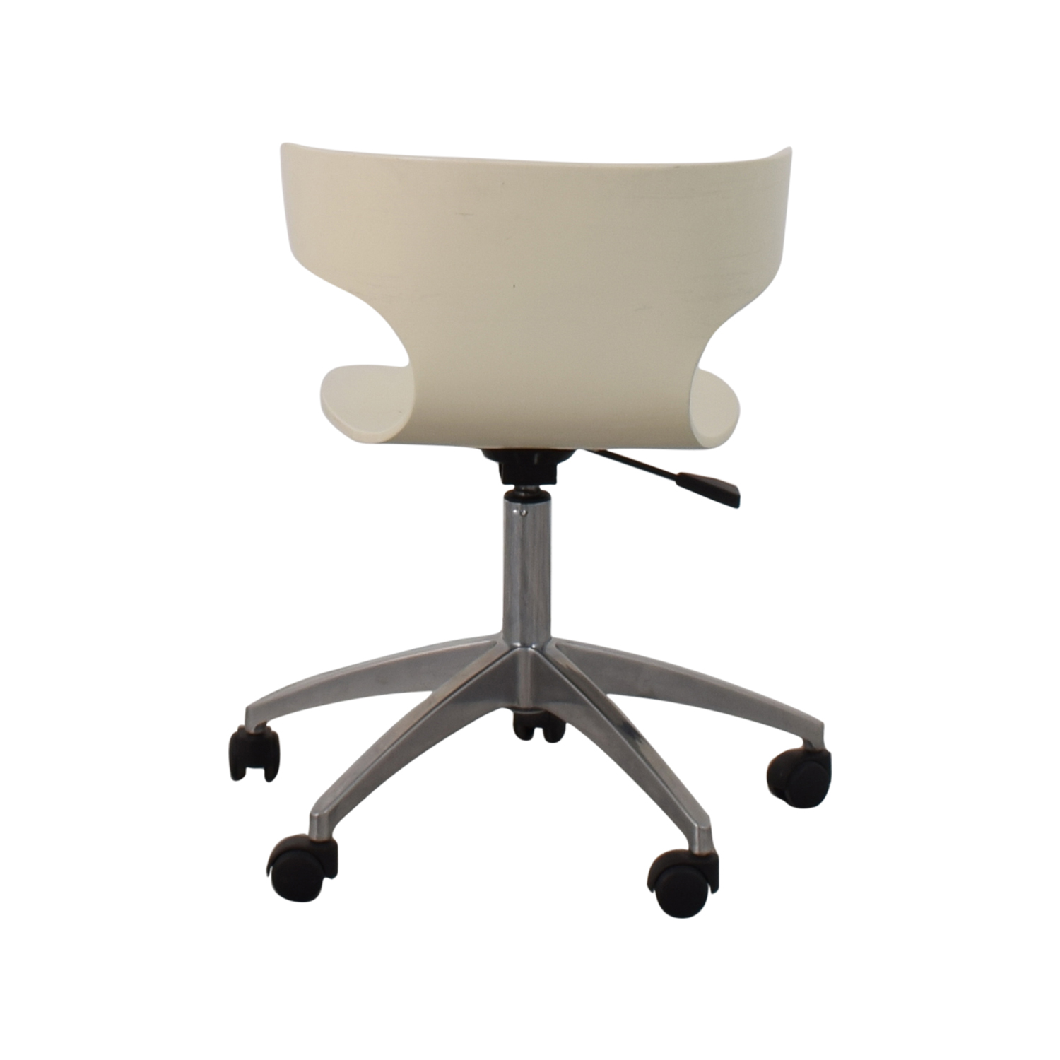 West Elm West Elm White Modern Chair with Casters nyc