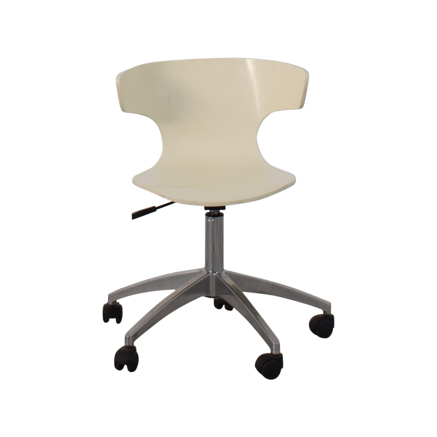 West Elm West Elm White Modern Chair with Casters Chairs
