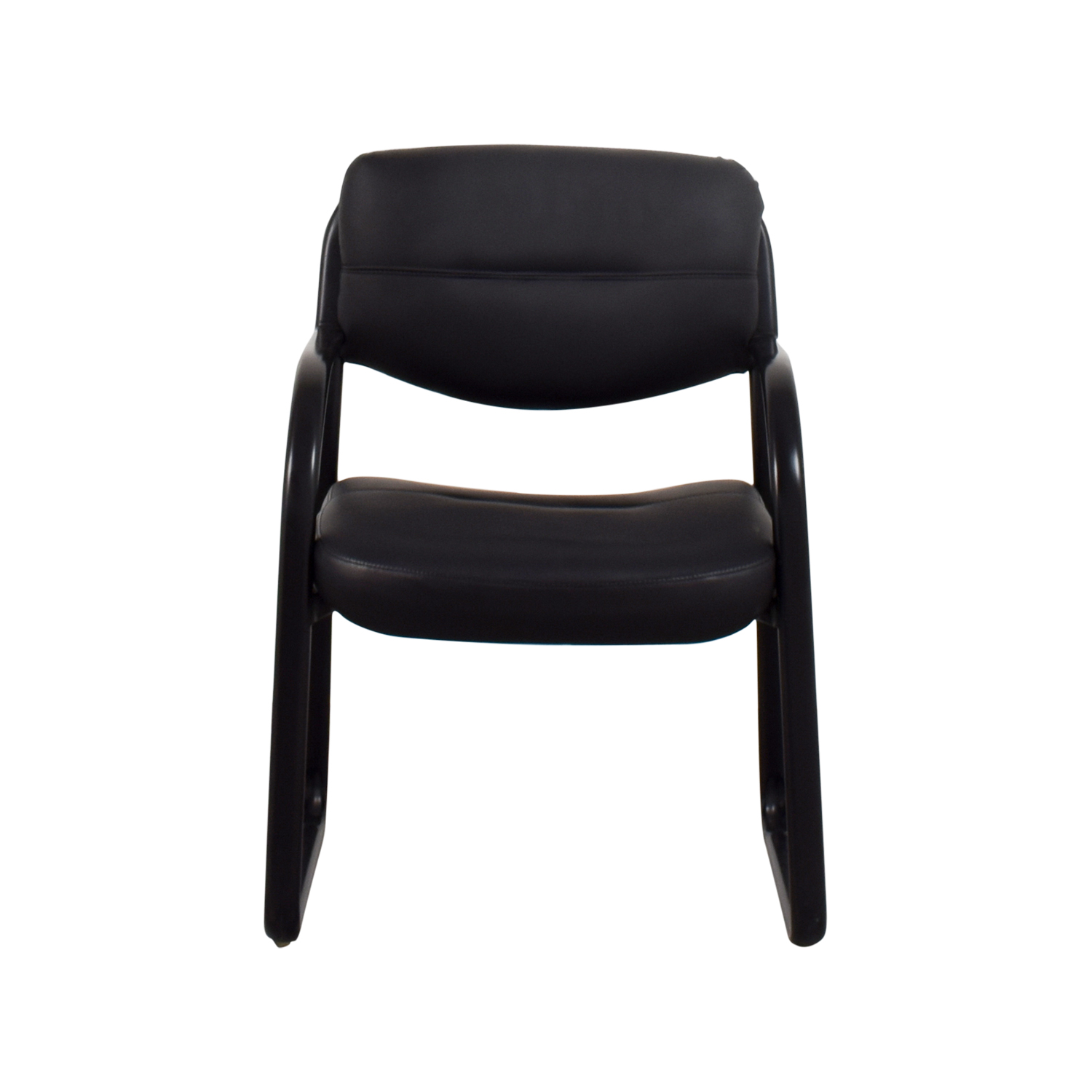 Black Leather Chair / Chairs