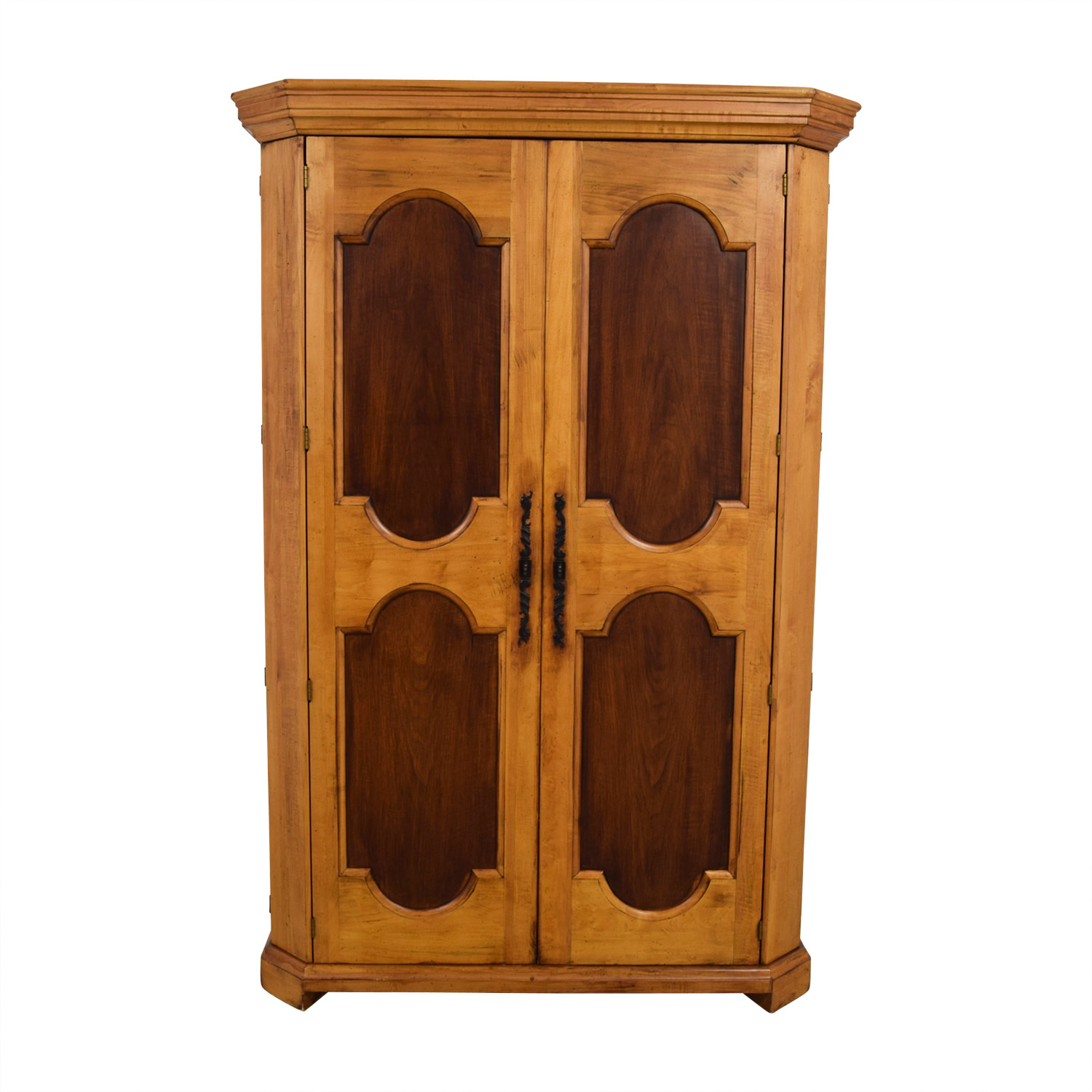 Platypus Platypus Two-Toned Armoire Honey Pine