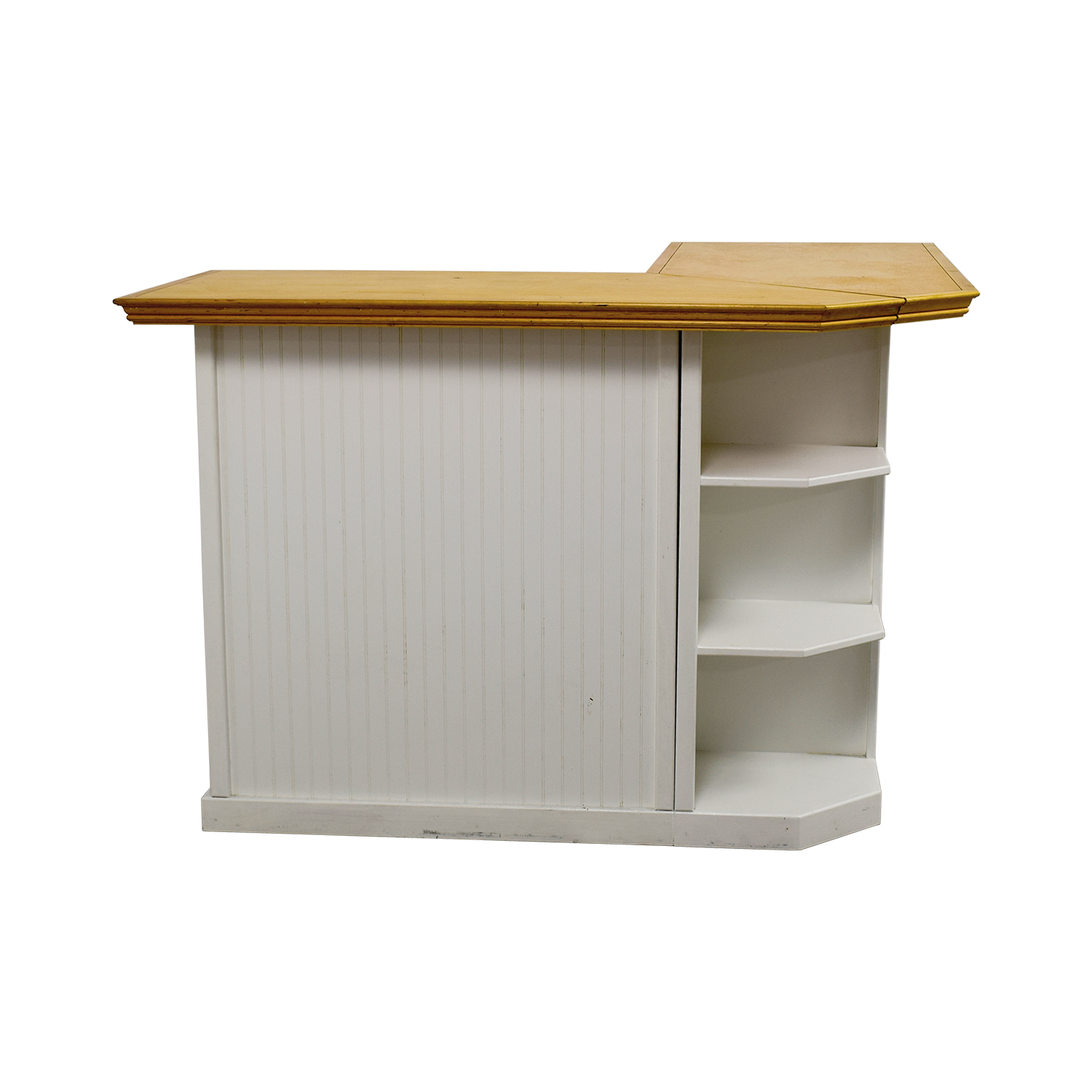 shop White Bar with Maple Top Counter online