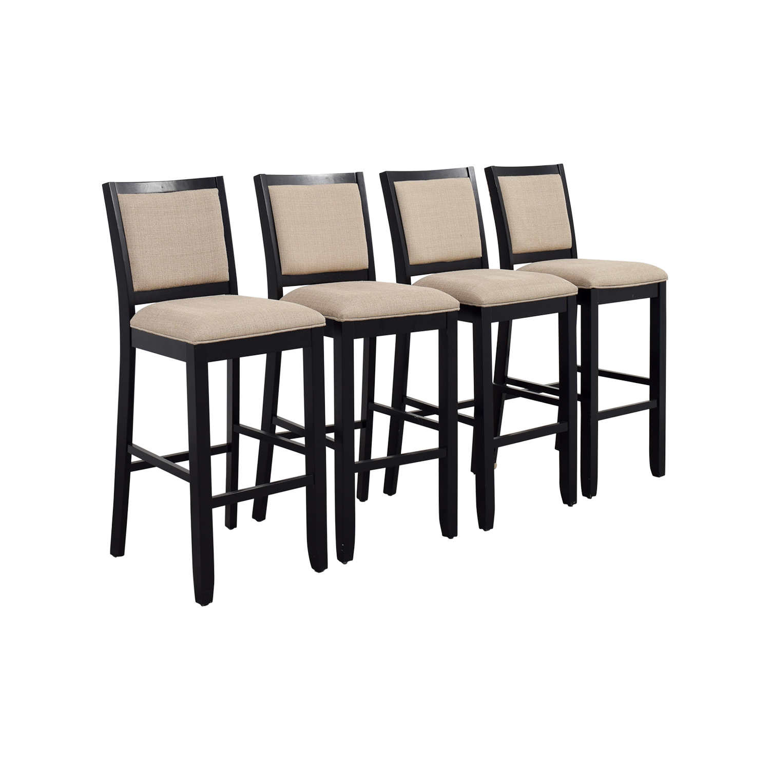Off beige upholstered bar stools chairs