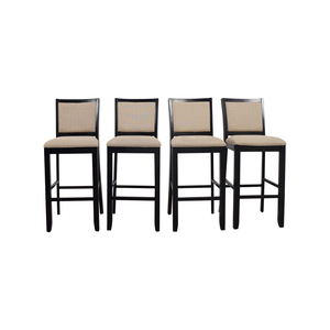 Beige Upholstered Bar Stools dimensions