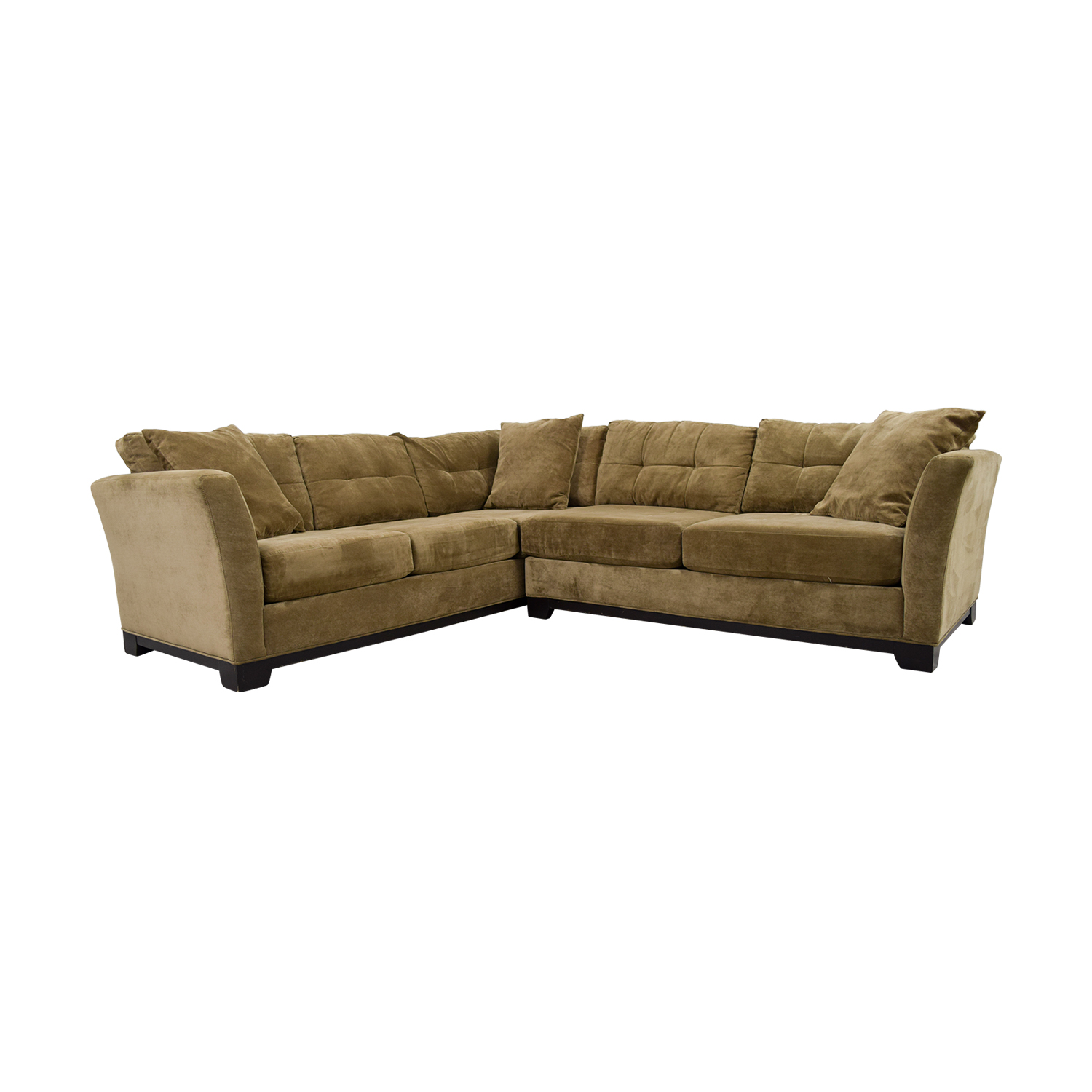 76% OFF - Macy\'s Macy\'s Elliot Fabric Microfiber Two-Piece Sectional ...