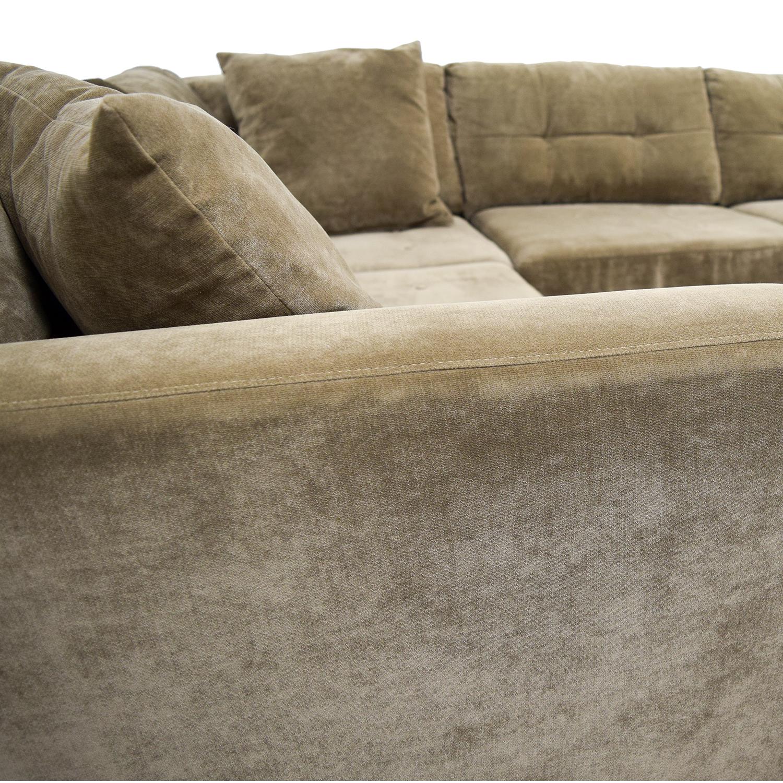 76% OFF - Macy\'s Macy\'s Elliot Fabric Microfiber Two-Piece Sectional Sofa /  Sofas