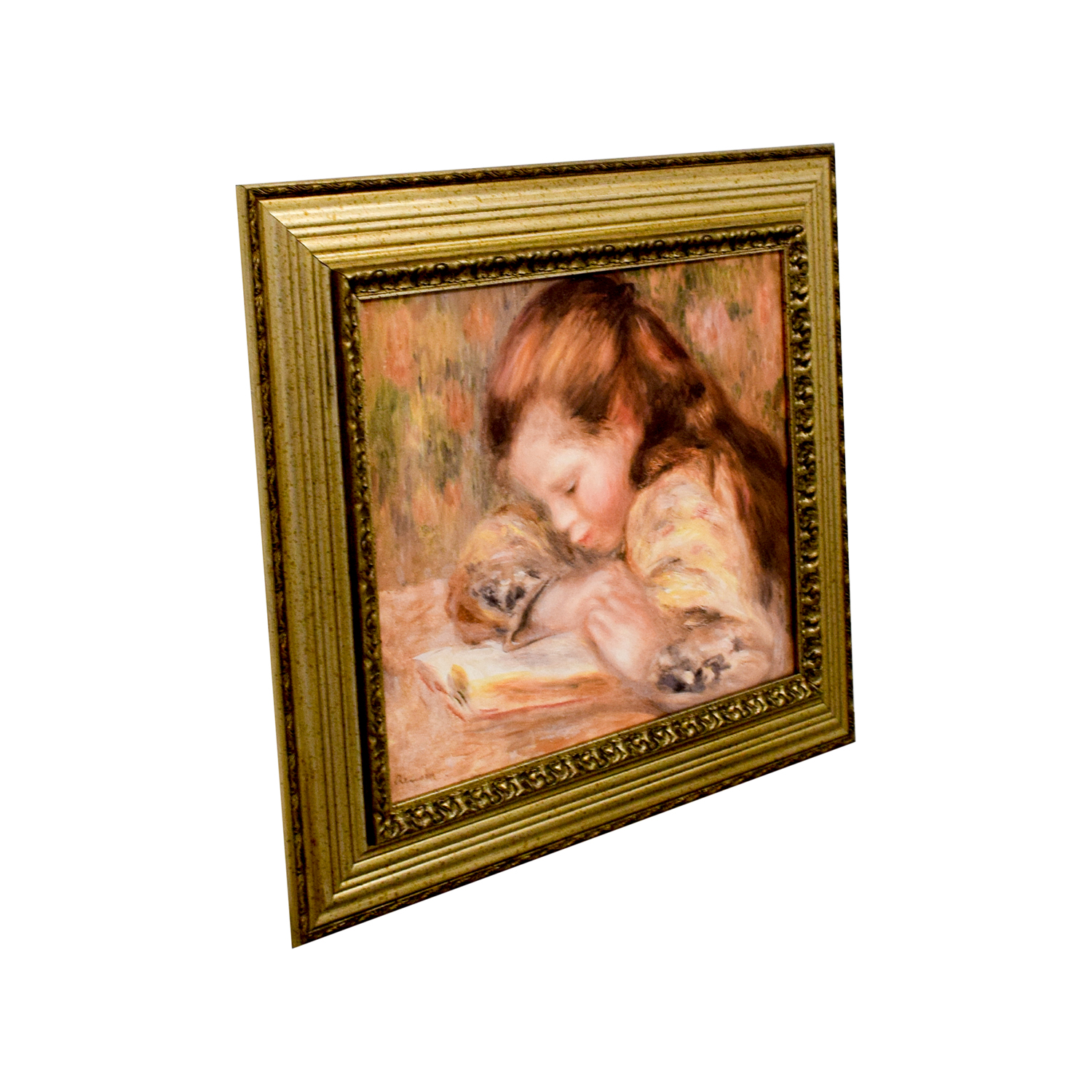 buy Pierre Auguste Renoir Young Girl Reading Print Wall Art